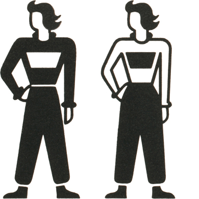 Female workers, based on ISOTYPE by Otto Neurath and Gerd Arntz