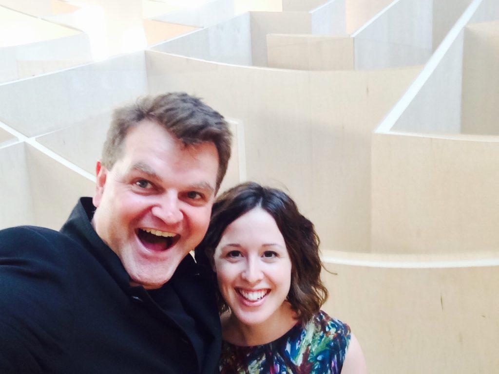 Iben with Kai-Uwe Bergmann at the BIG Maze, 2015.