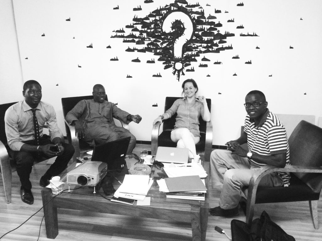 Jennifer with Amary Seck and DMT Architects