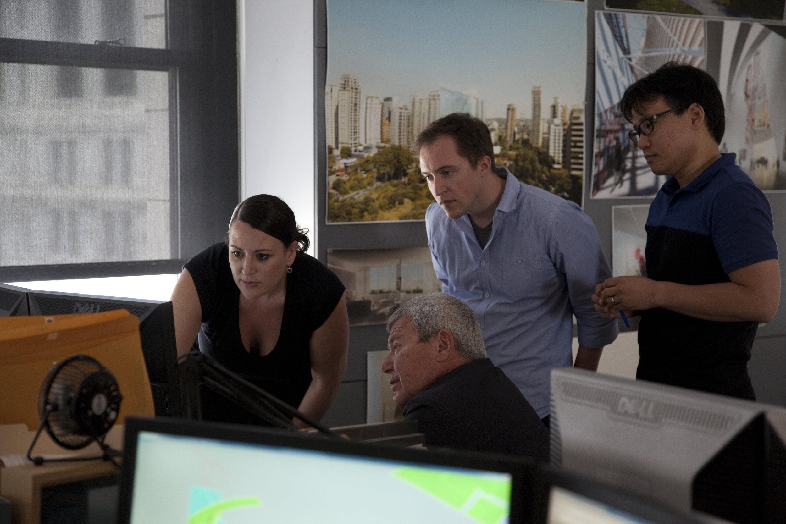 Carla in the office in 2012