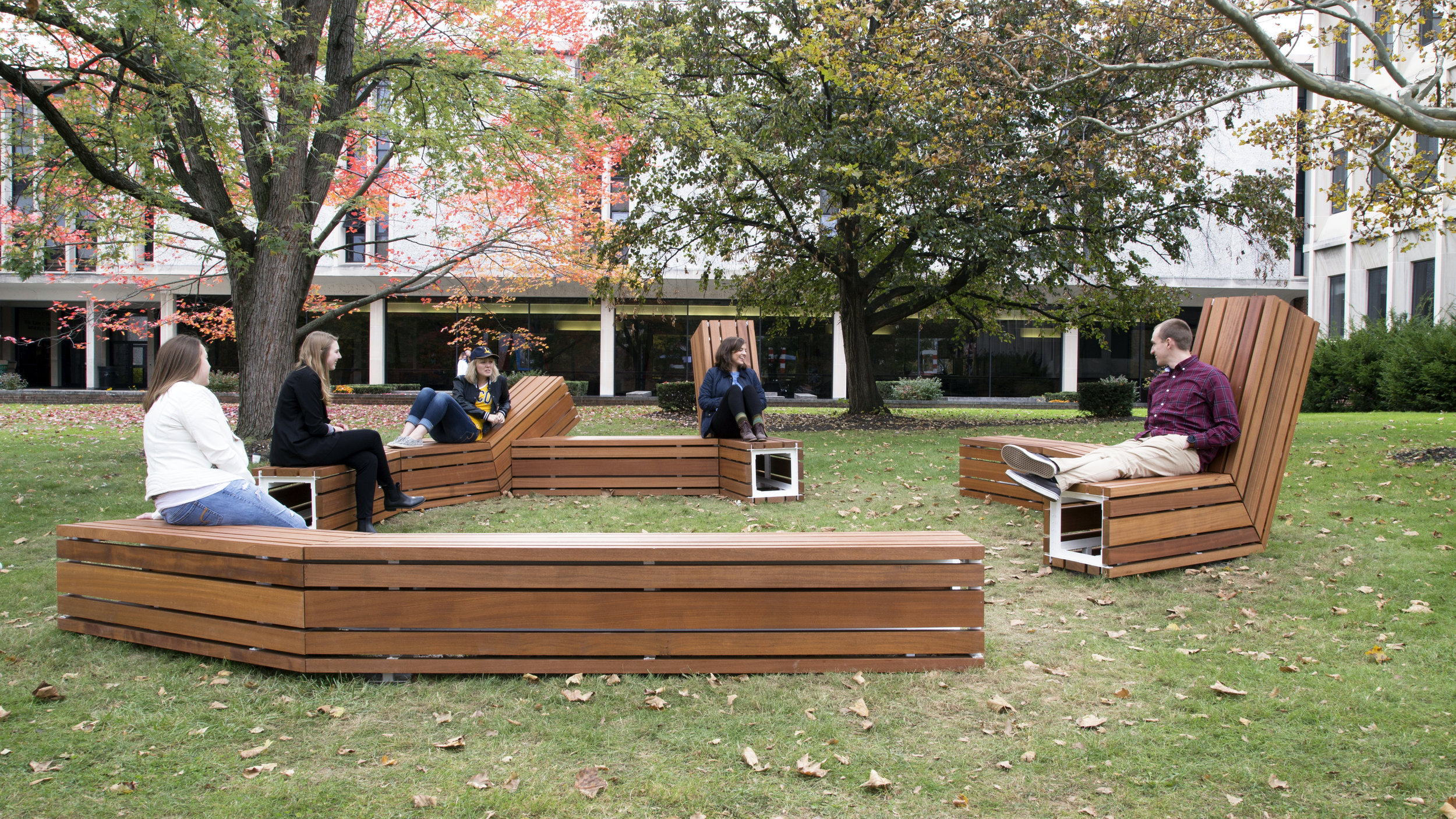 Logjam seating,  at Lycoming College