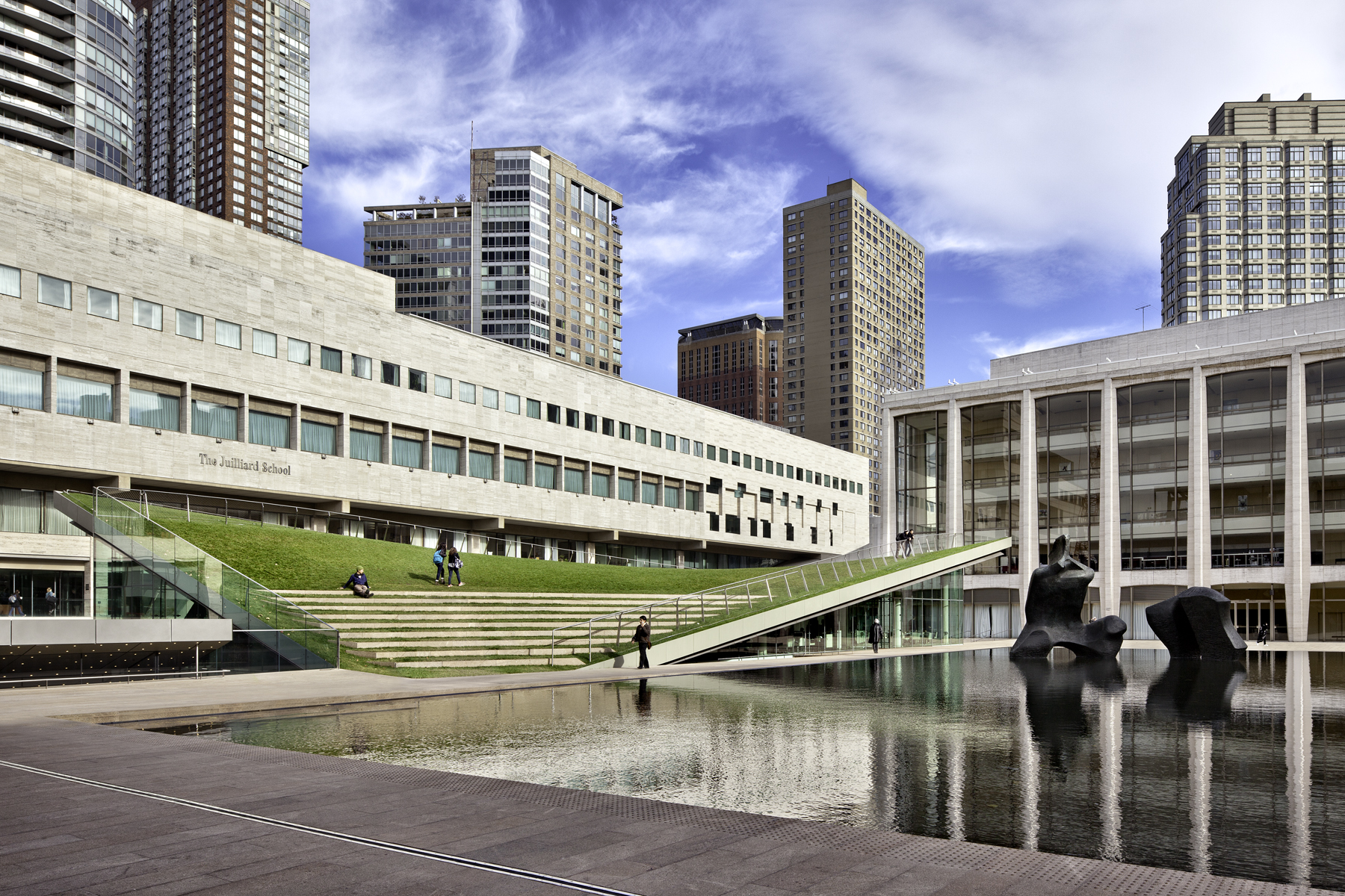 Lincoln Center North Plaza, photo courtesy of FXCollaborative and Diller Scofidio +Renfro