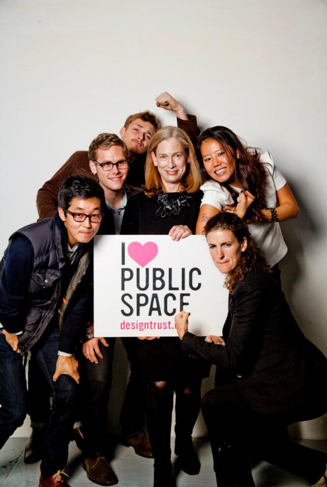 Sylvia with FXCollaborative staff at a Design Trust For Public Space event