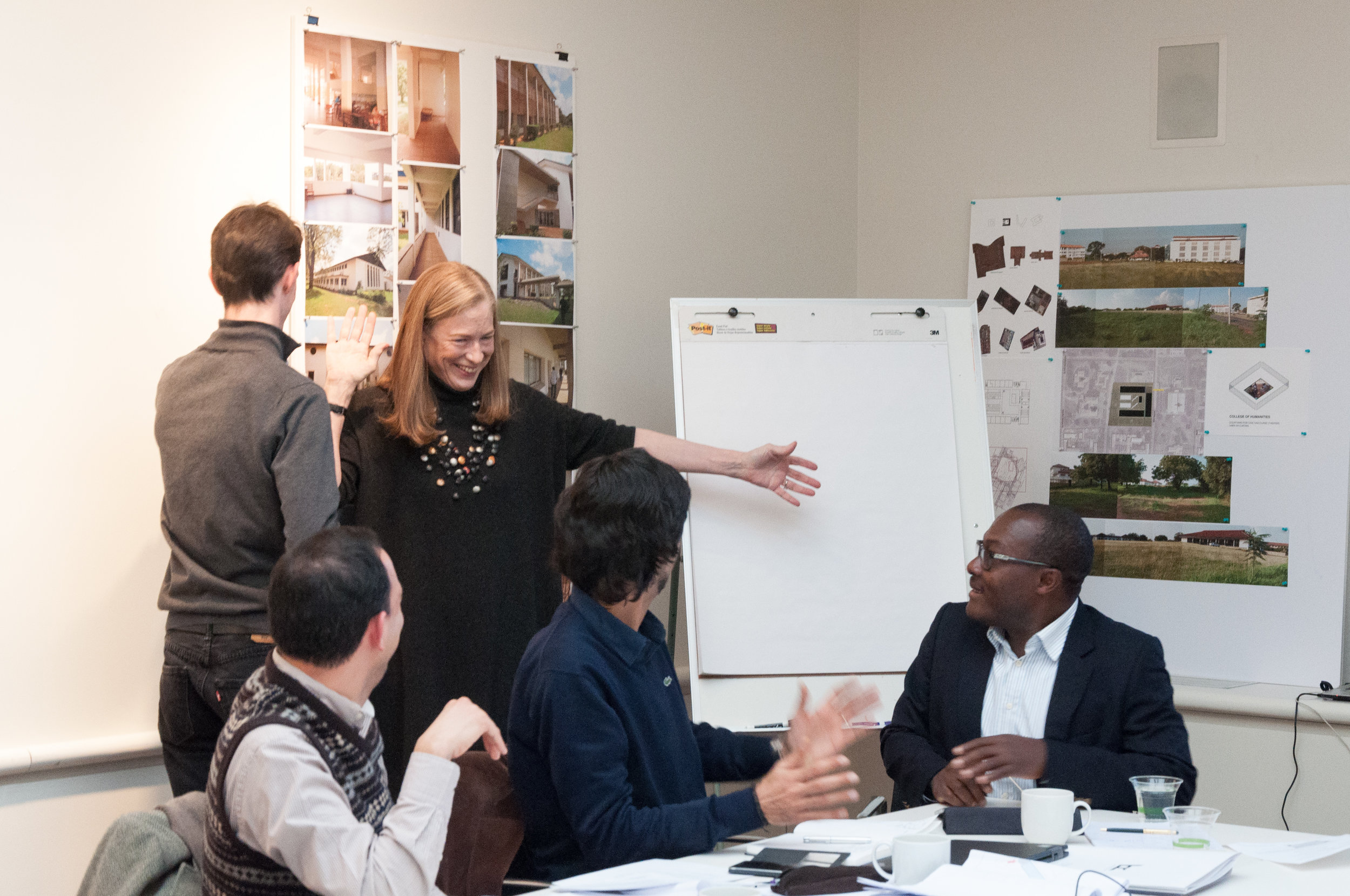 Sylvia Smith and team at a design meeting for a project in Ghana, courtesy of FXCollaborative