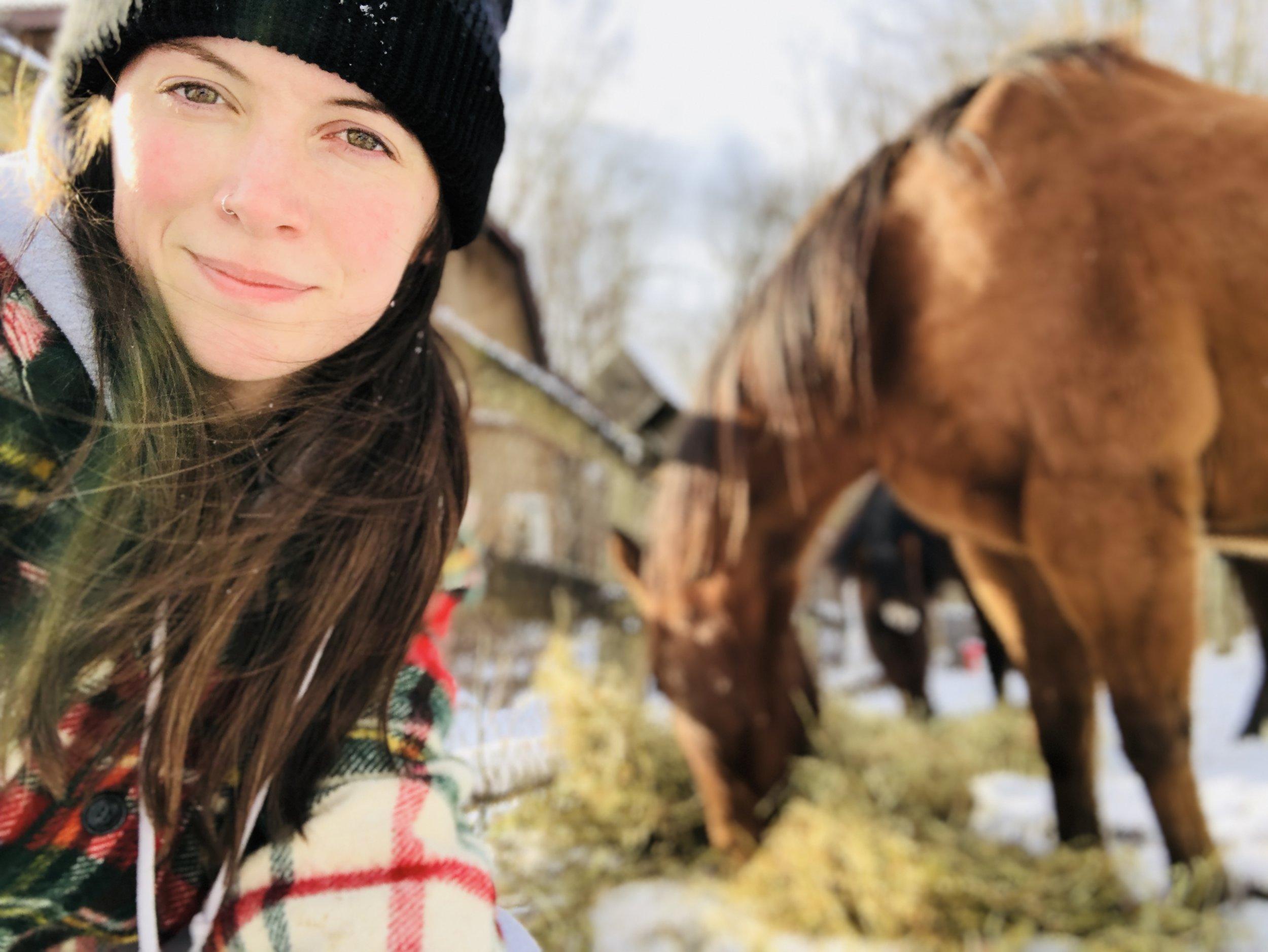 Ashley at her family's farm in Pennsylvania
