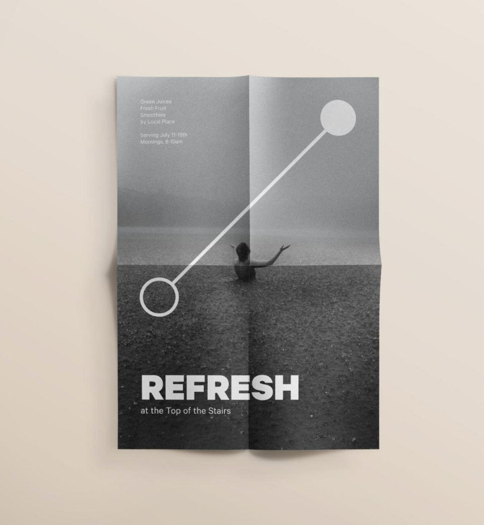 Promotional poster series for a pop-up activation in Chicago's Merchandise Mart