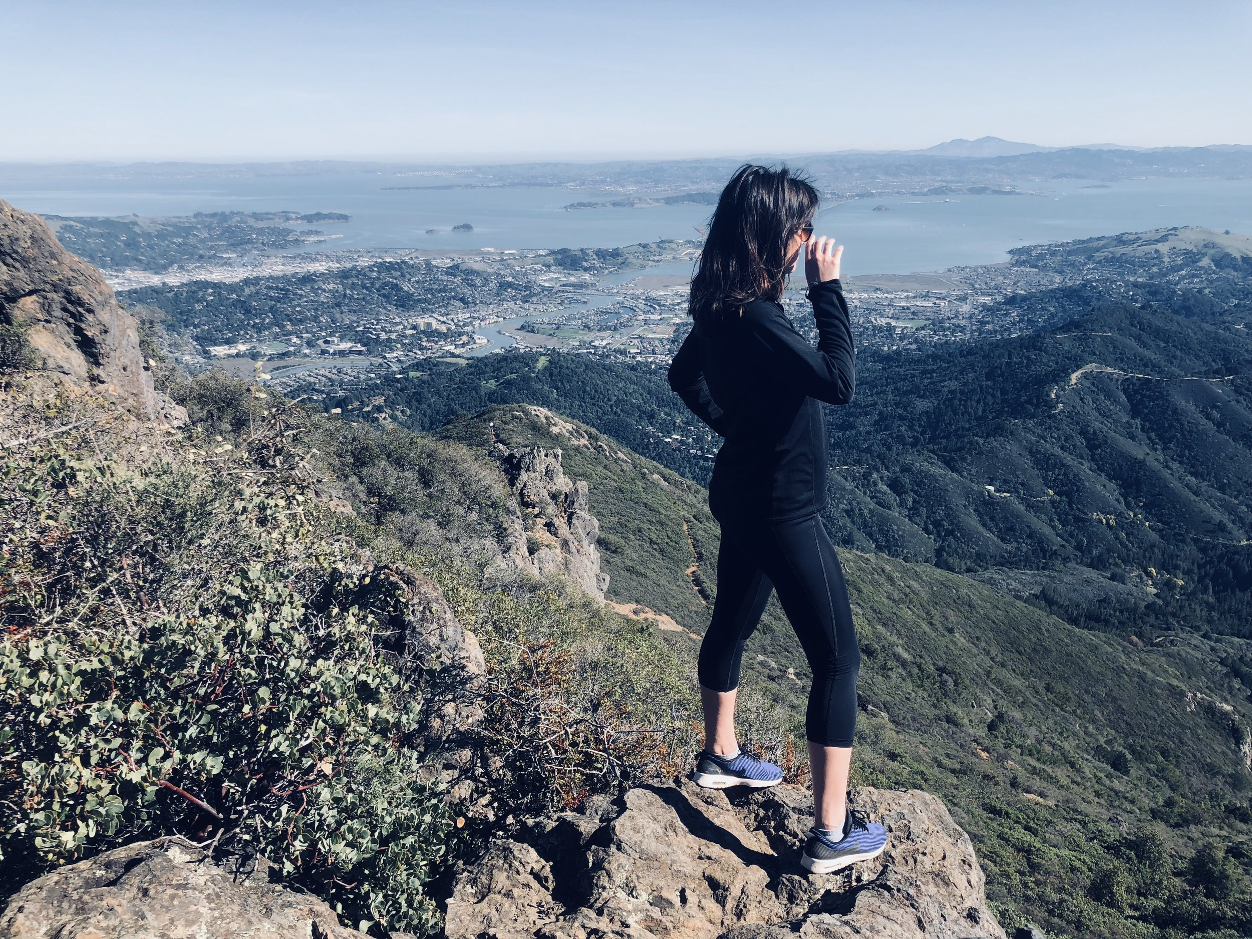 Ashley on top of Mount Tam, a favorite hike north of San Francisco