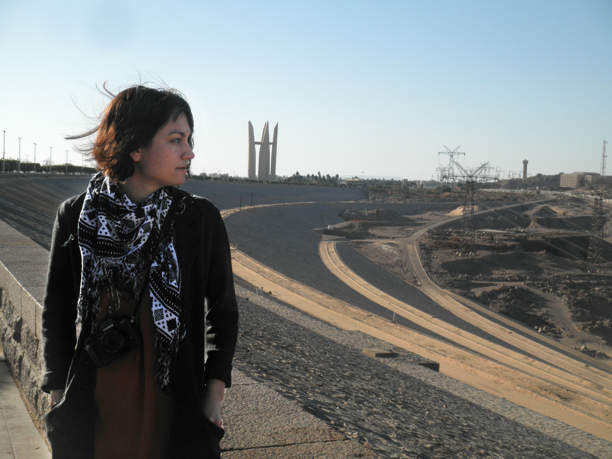 Isabel on a personal trip to see Aswan Dam, Egypt, 2018.