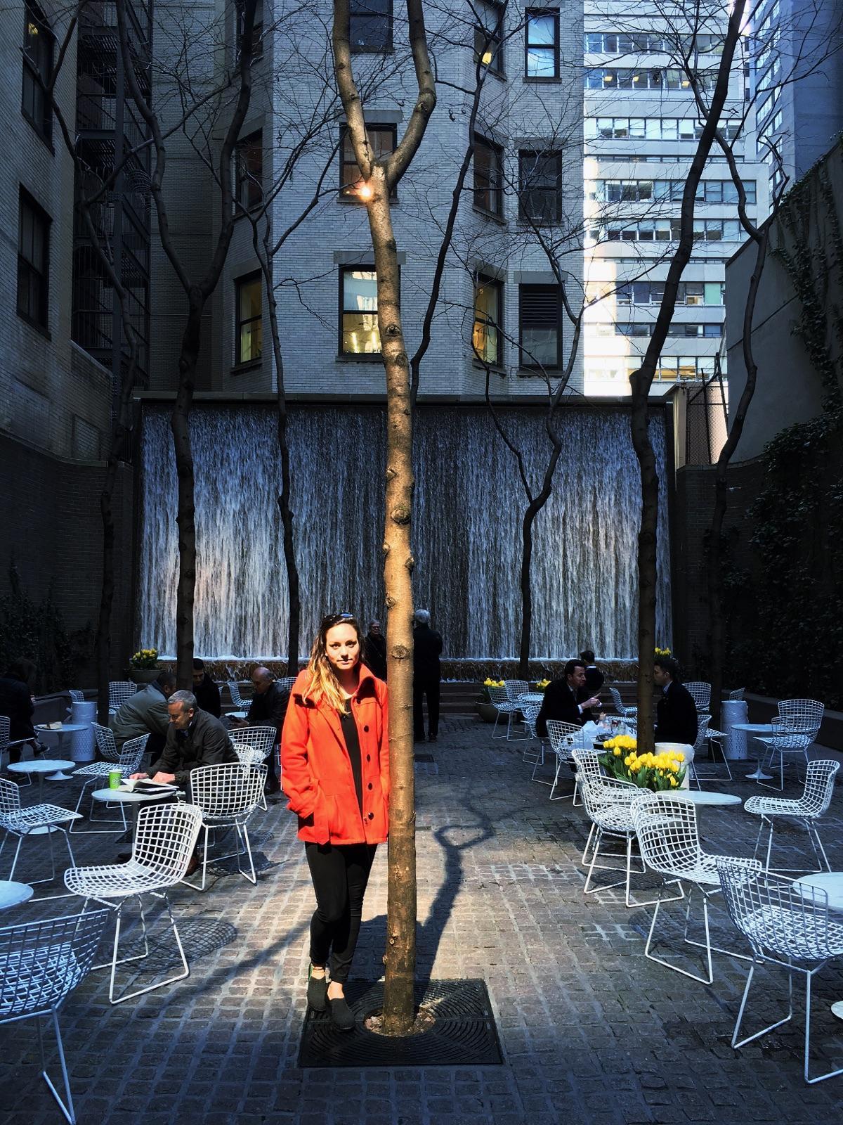 Isabel at Paley Park, NYC