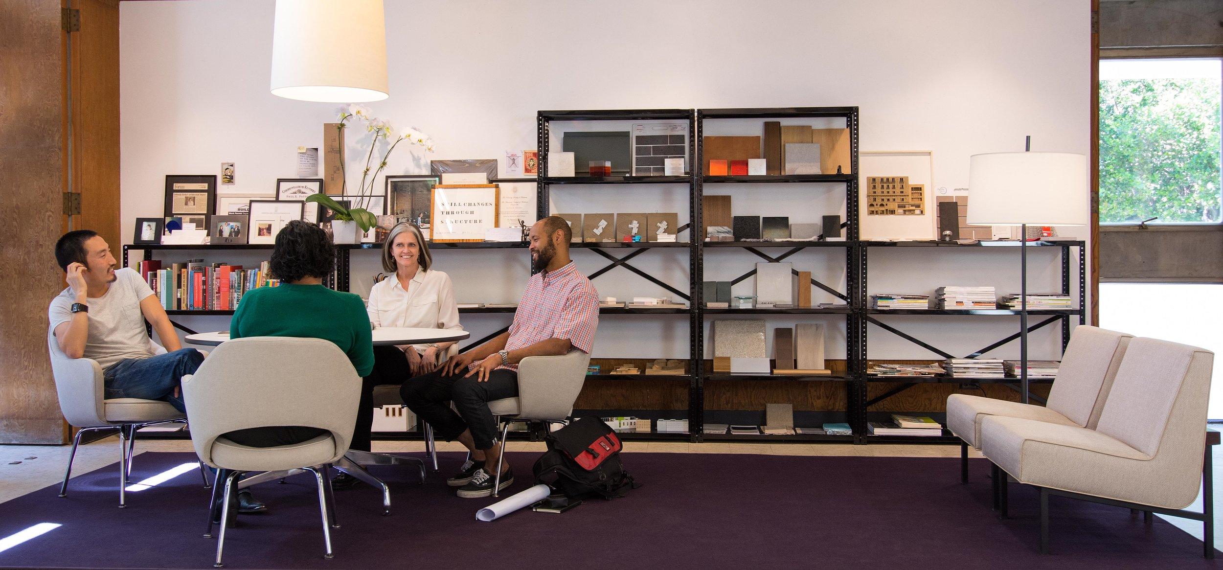 Deborah in her office, photo by Kirk Wuest