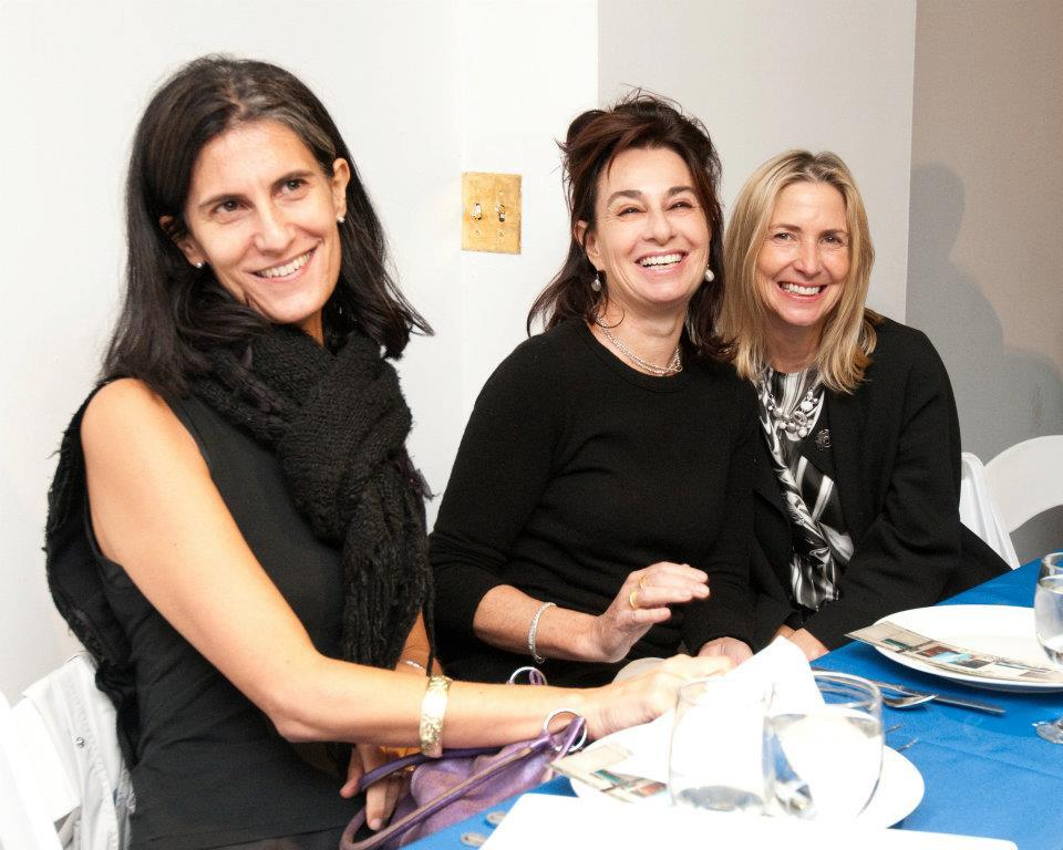 Galia with Claudia Gould, Director of the Jewish Museum and Lise Anne Couture at a Storefront For Architecture Fundraising event hosted by Eva Franch i Gilabert.
