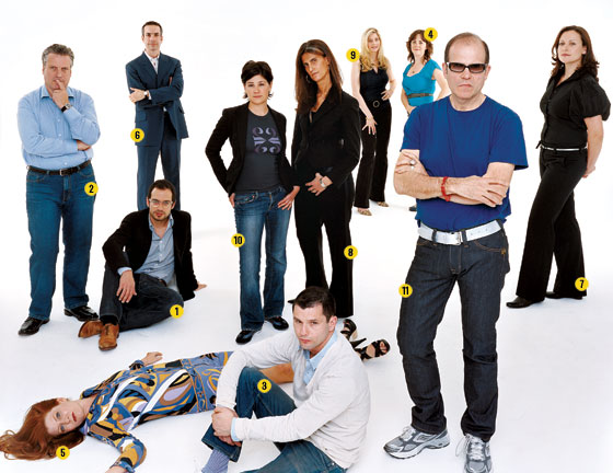 In 2007, Galia was featured in New York Magazine as part of New York next wave of most promissing designers. Standing from left, Jean-Paul Viollet, Pepe López, Kyra Hartnett, Galia Solomonoff, Sara Story, Adrienne LaBelle, Roby Wynne, and Gal Nauer. On floor, from left, Benjamin Aranda, Amy Lau, and Billy Cotton.