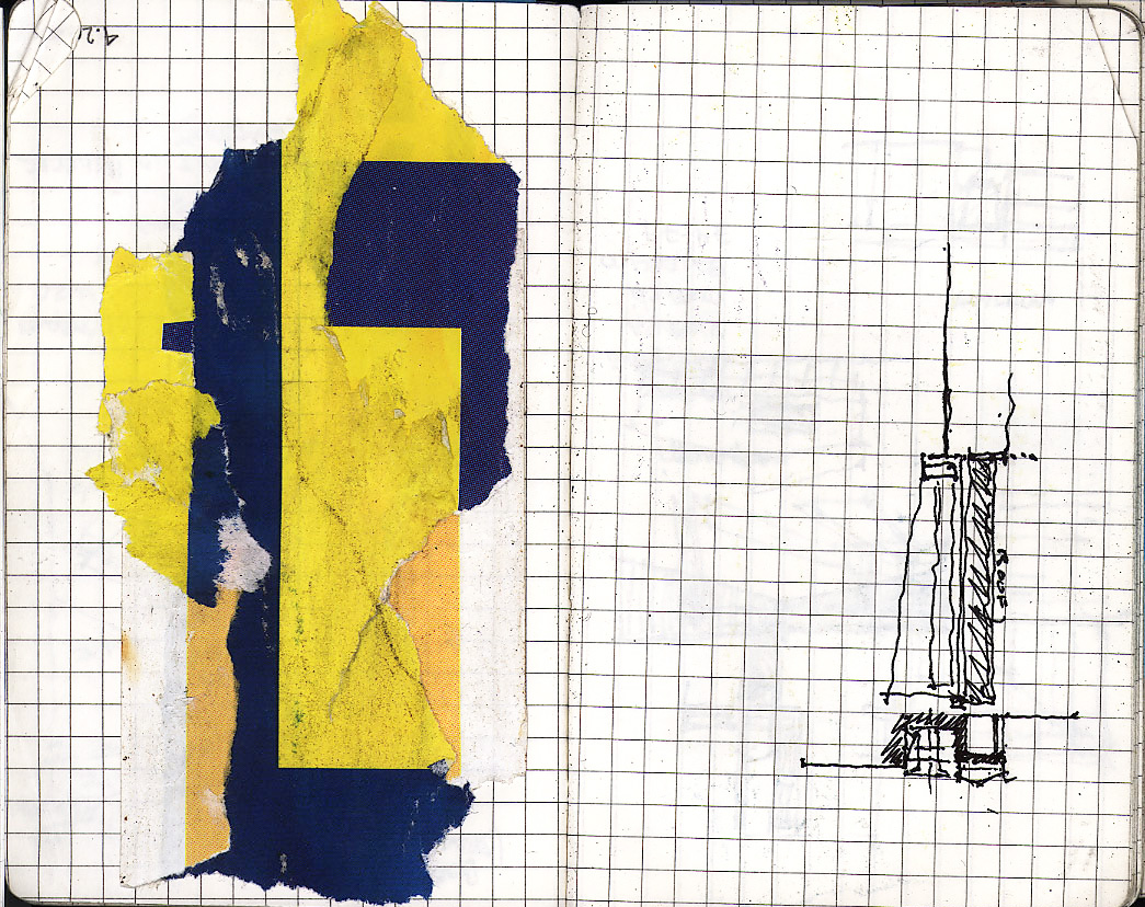 Andrea's collage and sketch - juxtaposed.