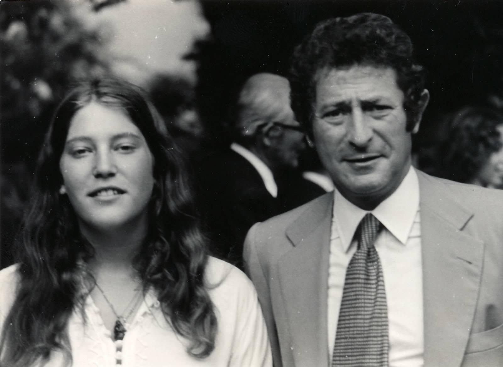 Andrea with her father in May 1973 at her high school graduation from TASIS (The American School in Switzerland) in Lugano.