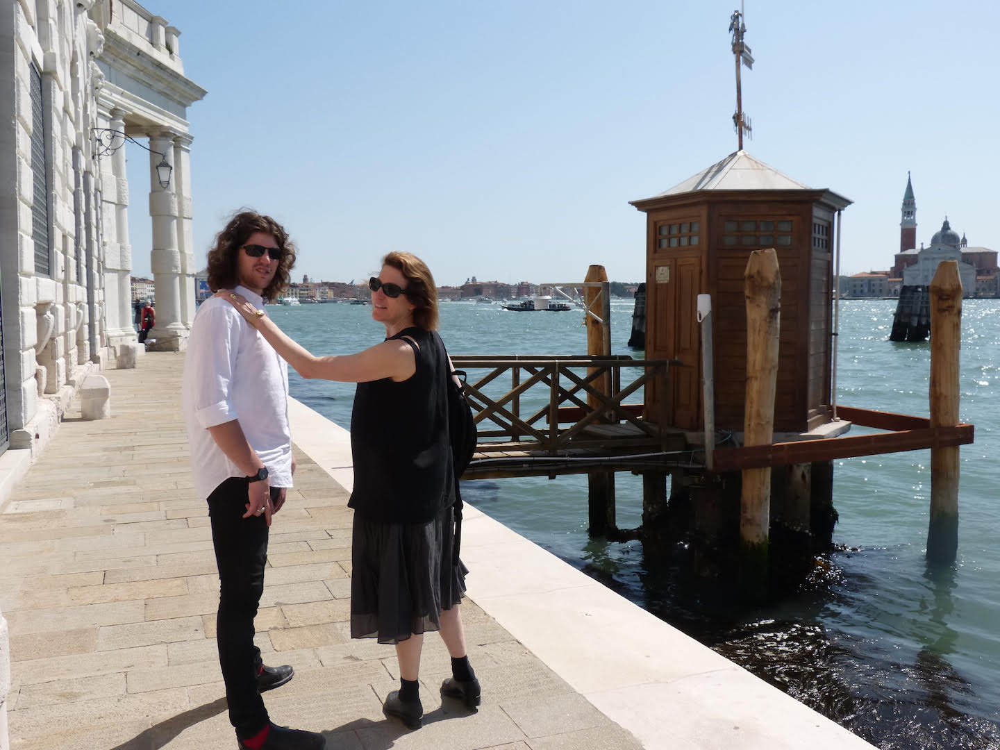 Andrea and Dax at the Venice Biennale in 2016.