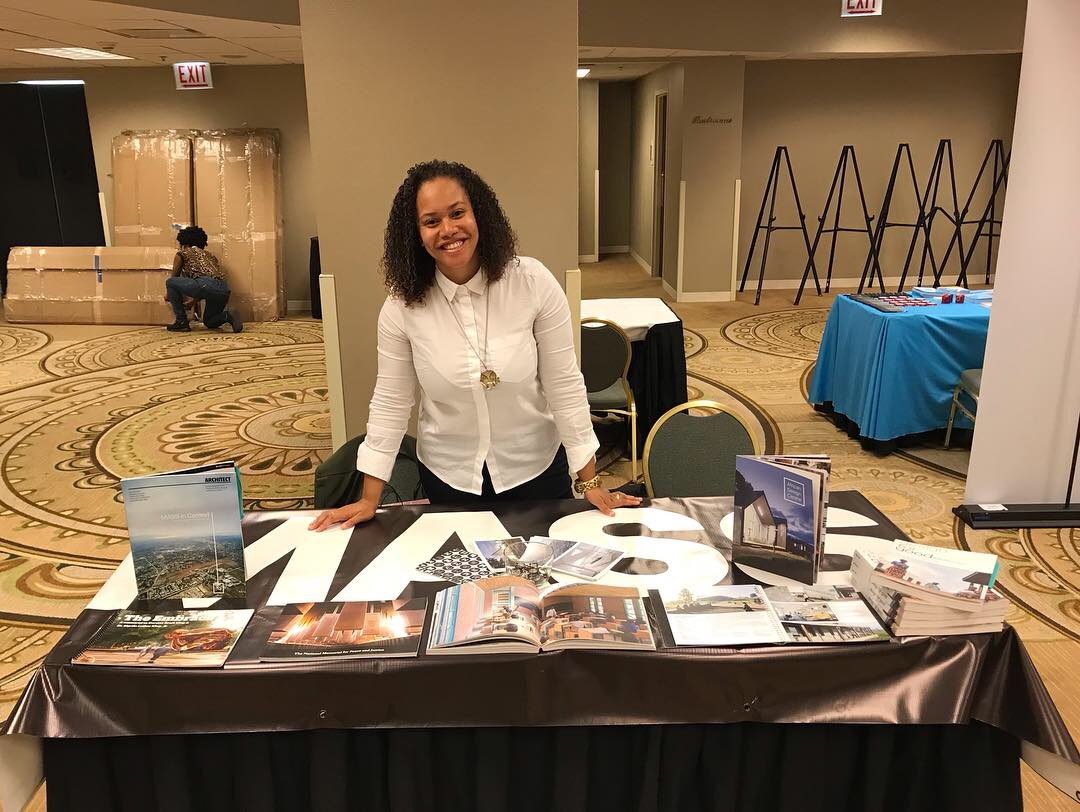 Jha D at the Exhibitor's Hall earlier this month during the NOMA conference in Chicago.