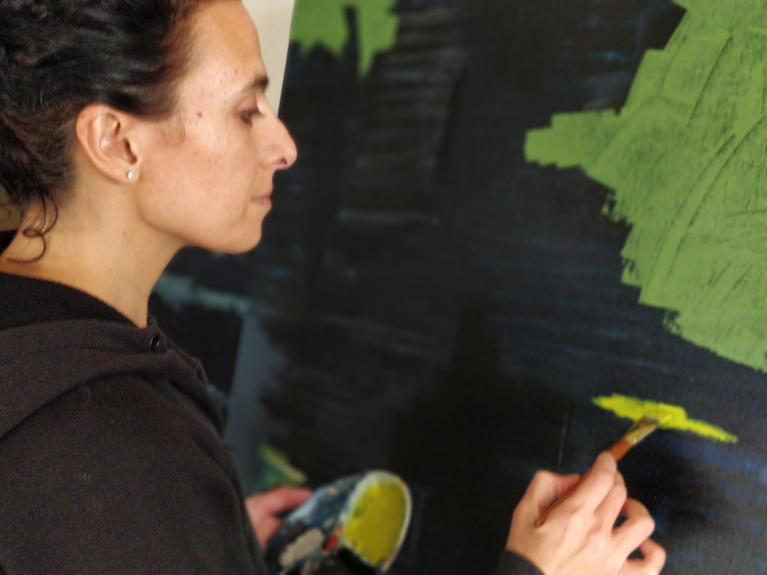 Hana painting.
