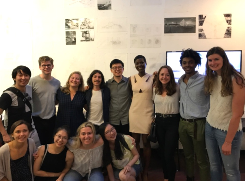 Amina at Columbia University GSAPP, with her Summer Intro to Architecture Studio students, co-taught with Ray Wang, 2017