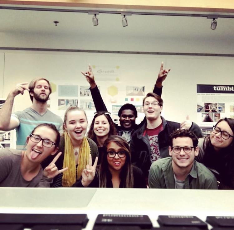 Nisha with her students.