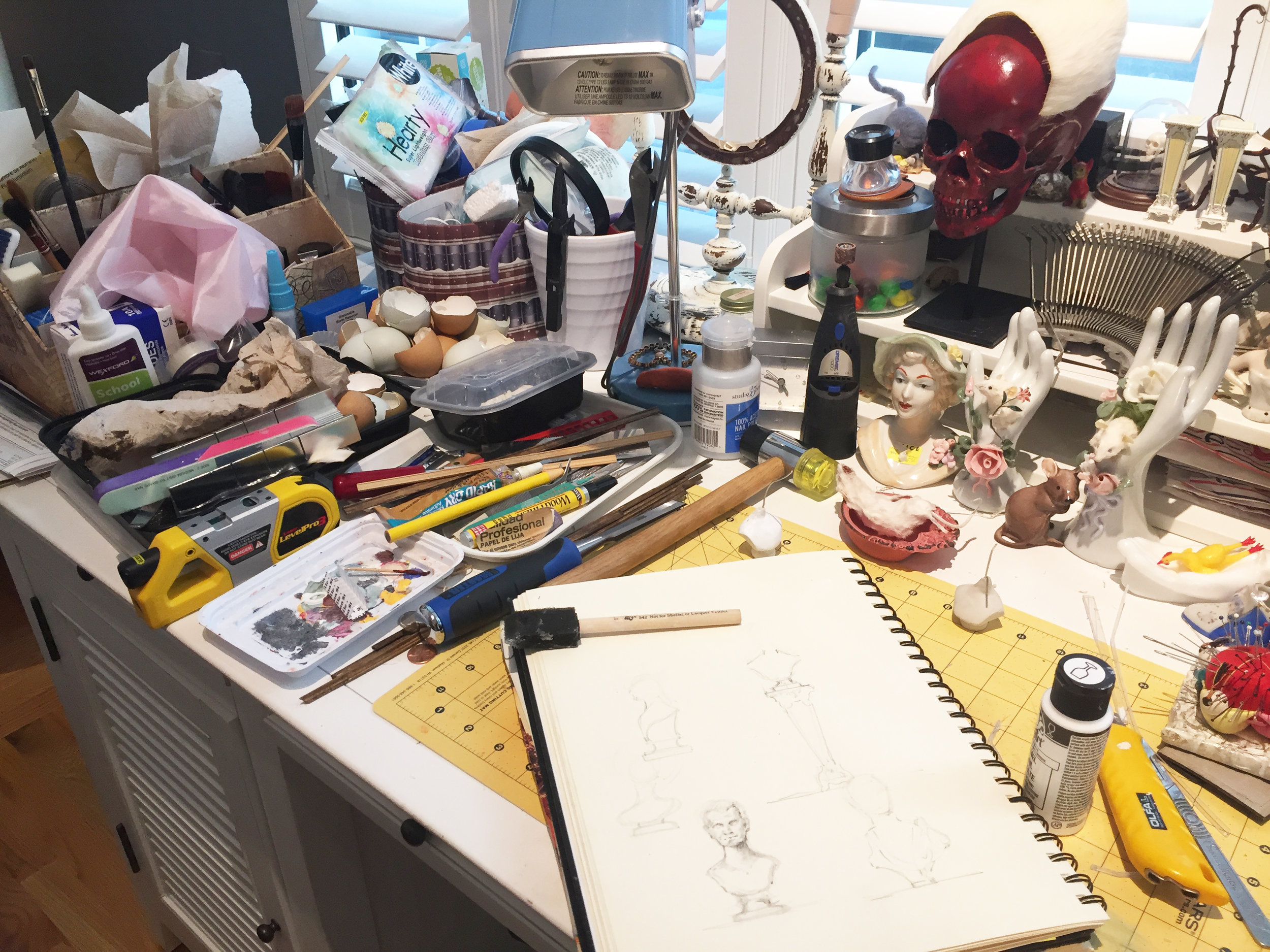 Elaine's home studio