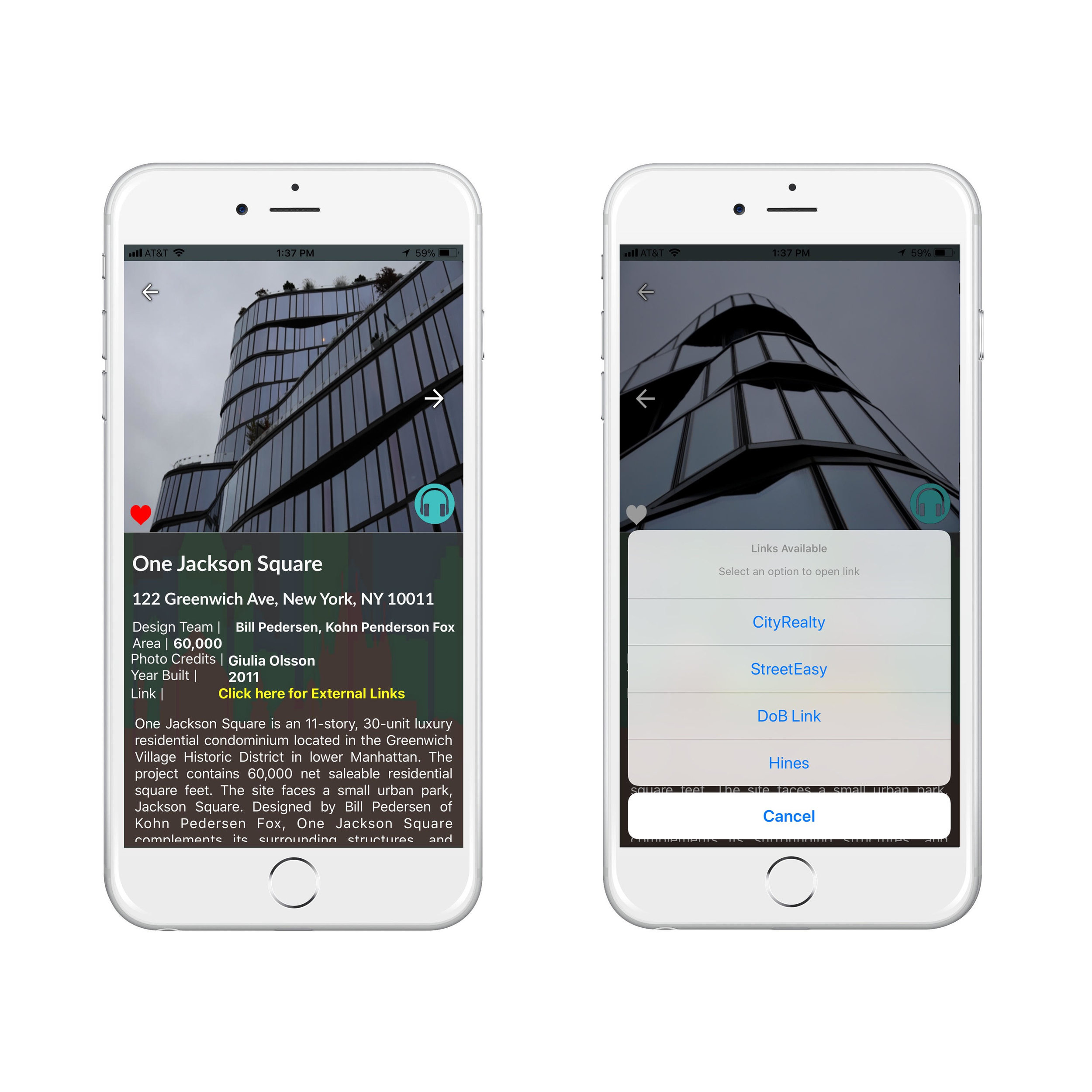 The Labyl app to search for building information, by NDNY.