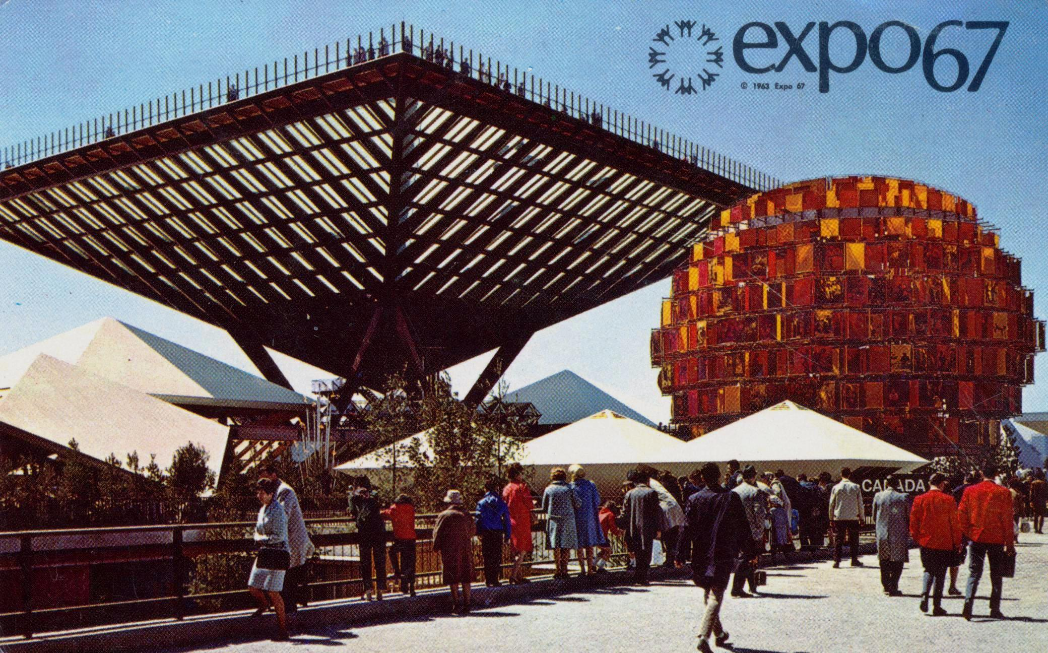 Postcard for the 1967 World Expo.