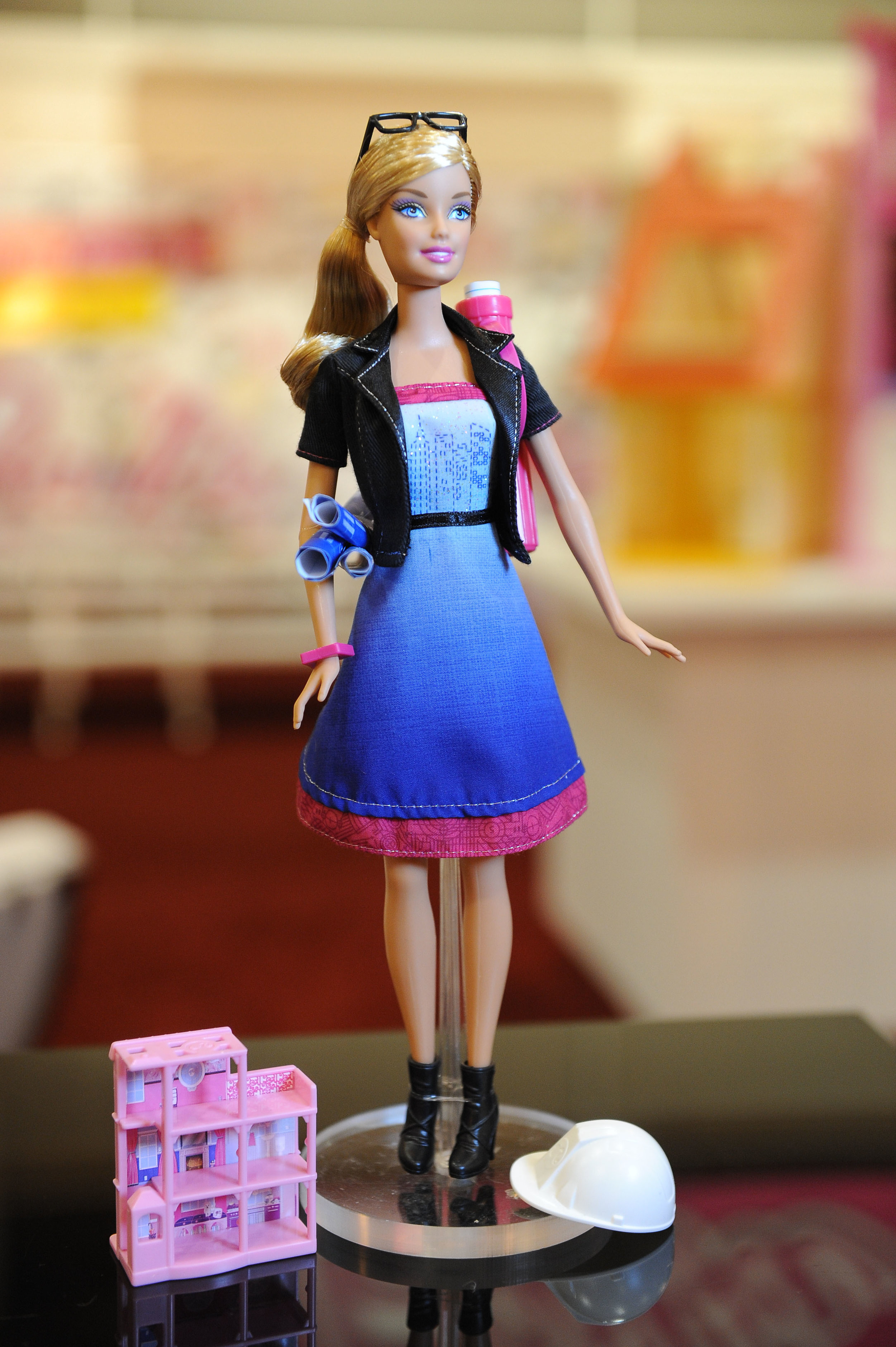 Architect Barbie on display at the AIA convention in New Orleans, May 2011.