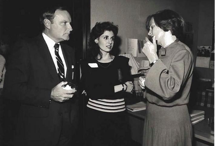 Mary Ann (center) with Herb Granath, CEO, ABC Video Enterprise and Jean Firstenberg, CEO and Director, American Film Institute, 1981.