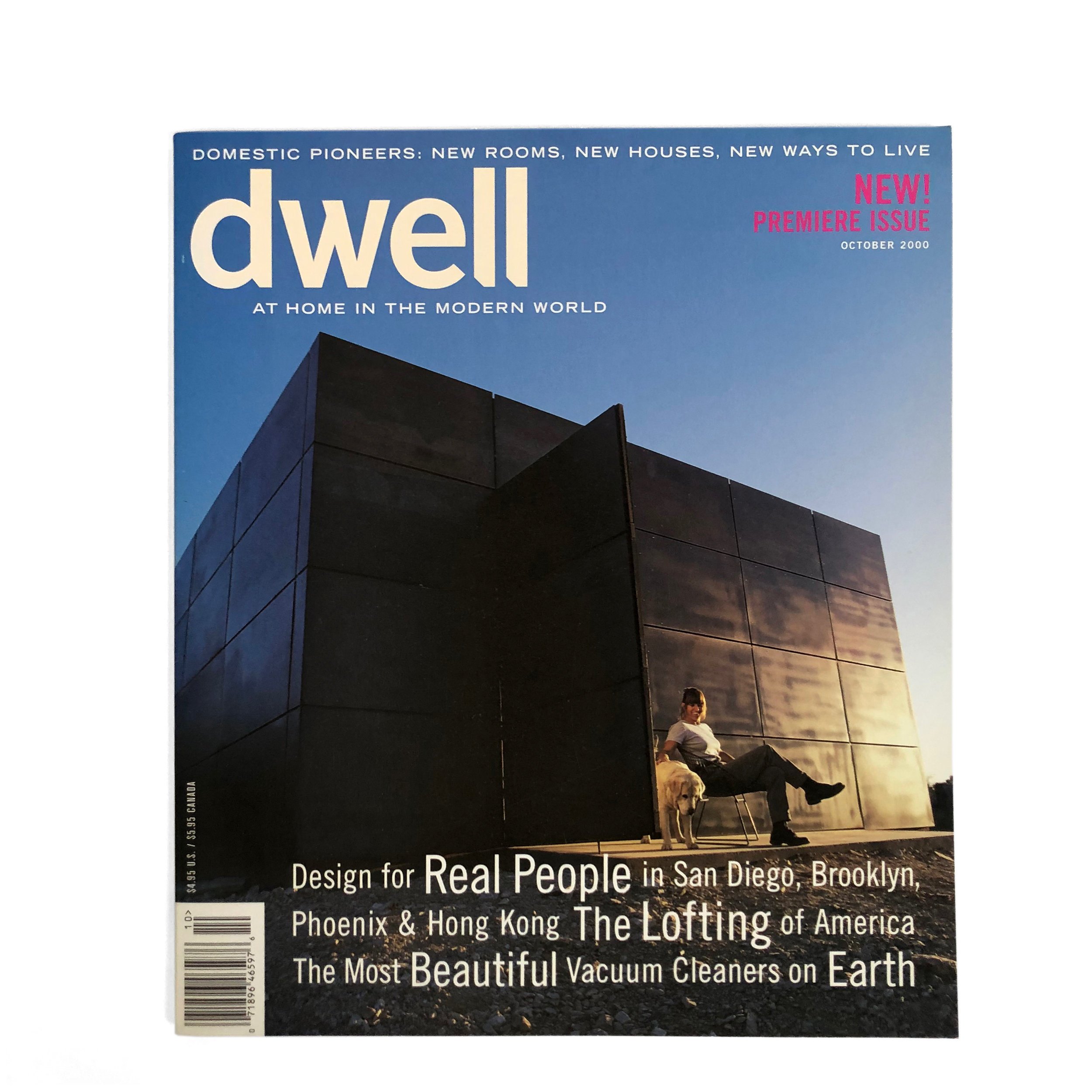 First issue of Dwell, 2000. Creative direction by Jeanette Hodge Abbink.
