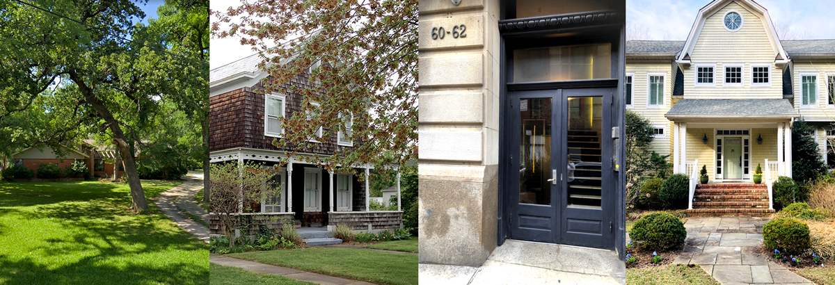 Diana's most special places - her childhood home in Texas, her home now in NYC, and her getaways in Greenport and Atlantic Highlands.