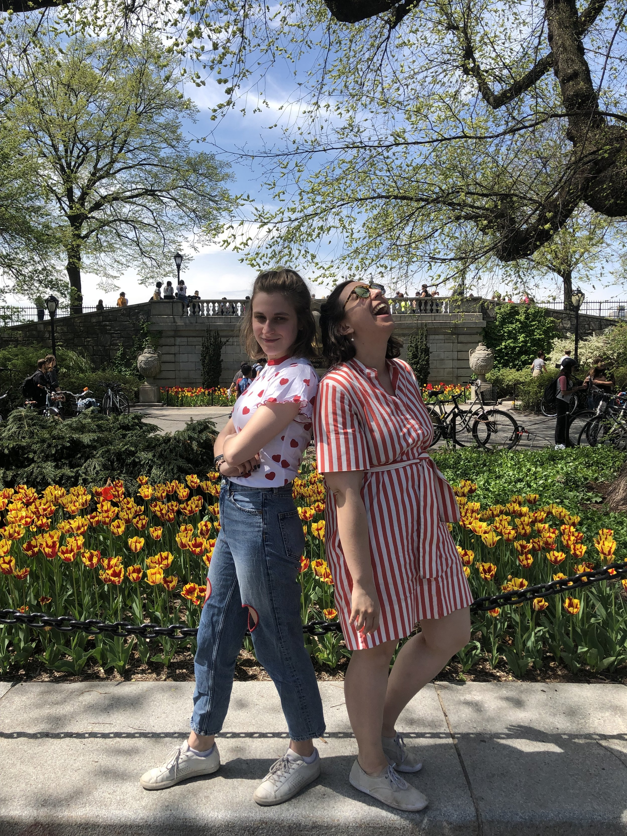 The benefits of working next to Central Park! Taking a break with Lauren Robbins, Associate Manager, Exhibition Management