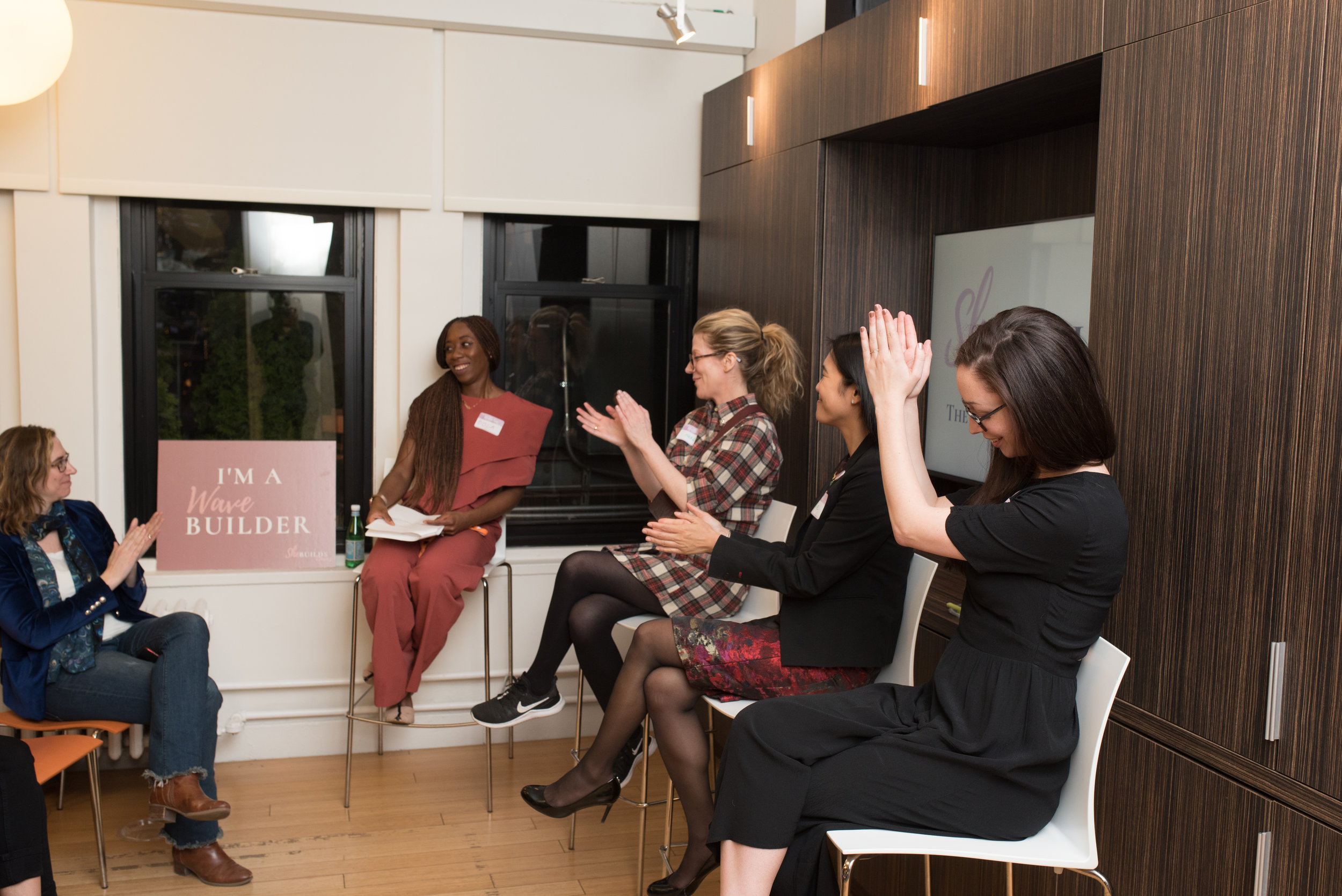 Bola at the first SheBuildsWaves Quarterly Conversation