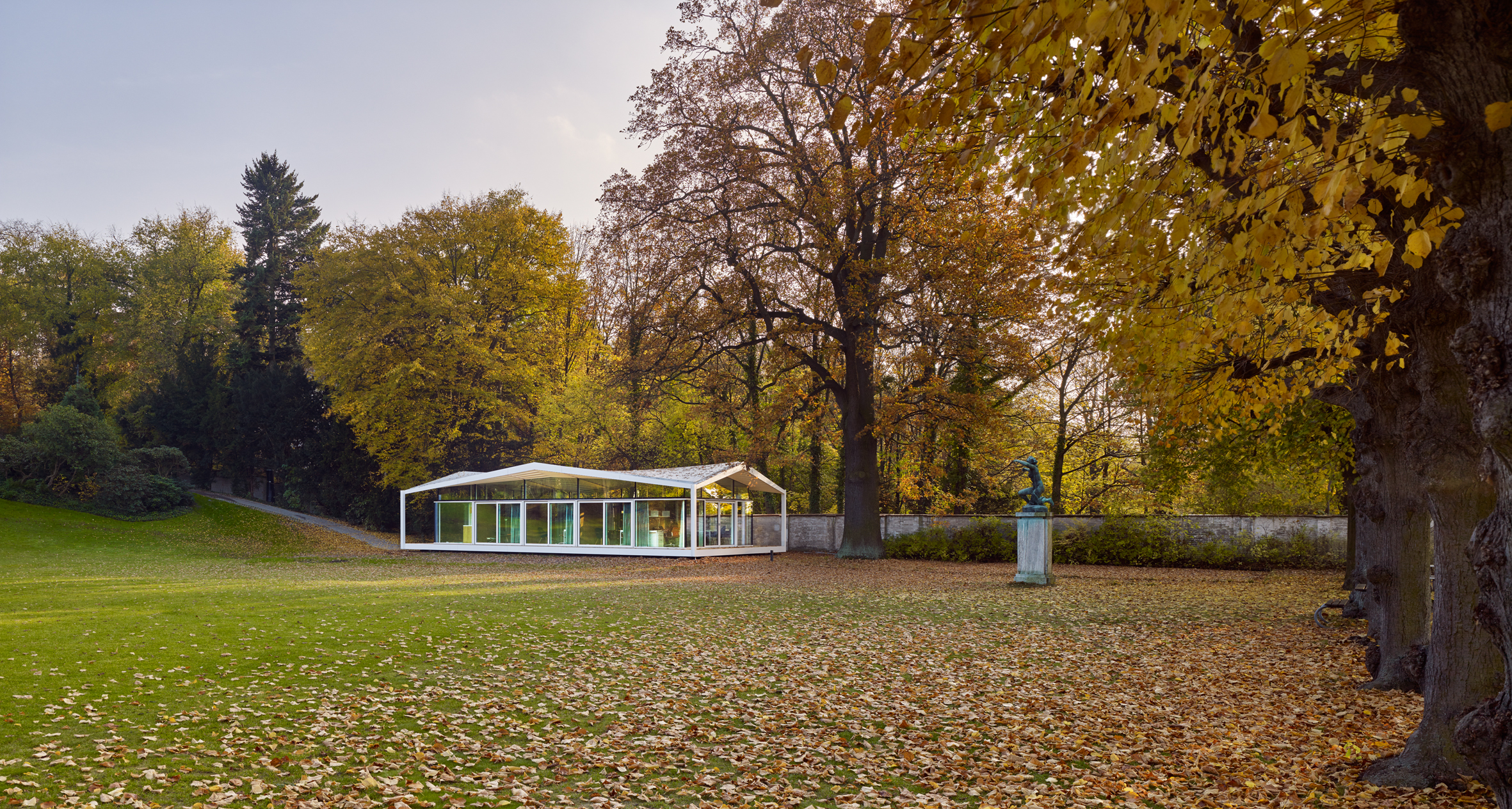 Fellows Pavilion at the American Academy, Berlin. Photography by Stefan Müller , courtesy of Barkow Leibinger.