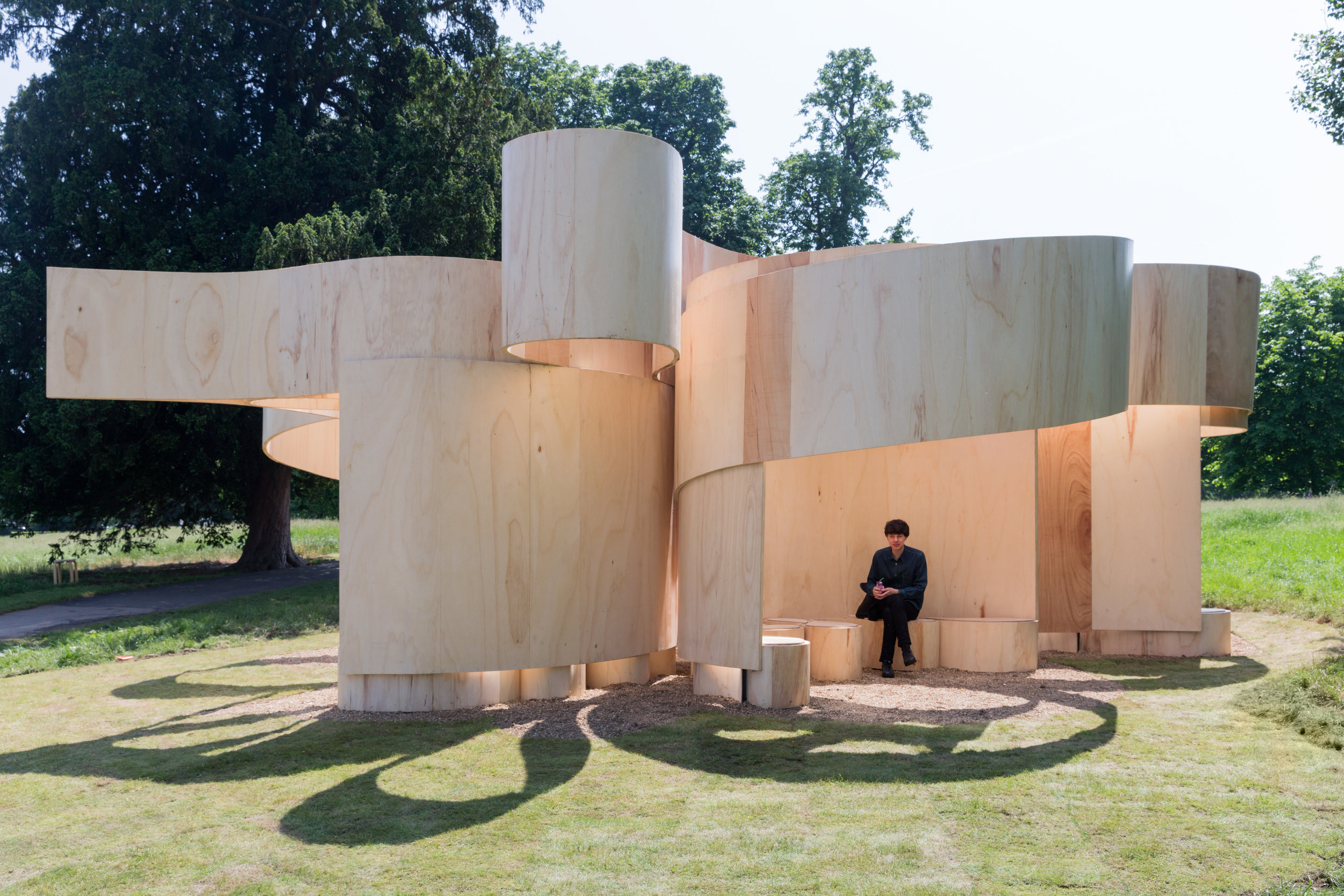 Serpentine Summer House, London. Photography by Iwan Baan, courtesy of Barkow Leibinger.