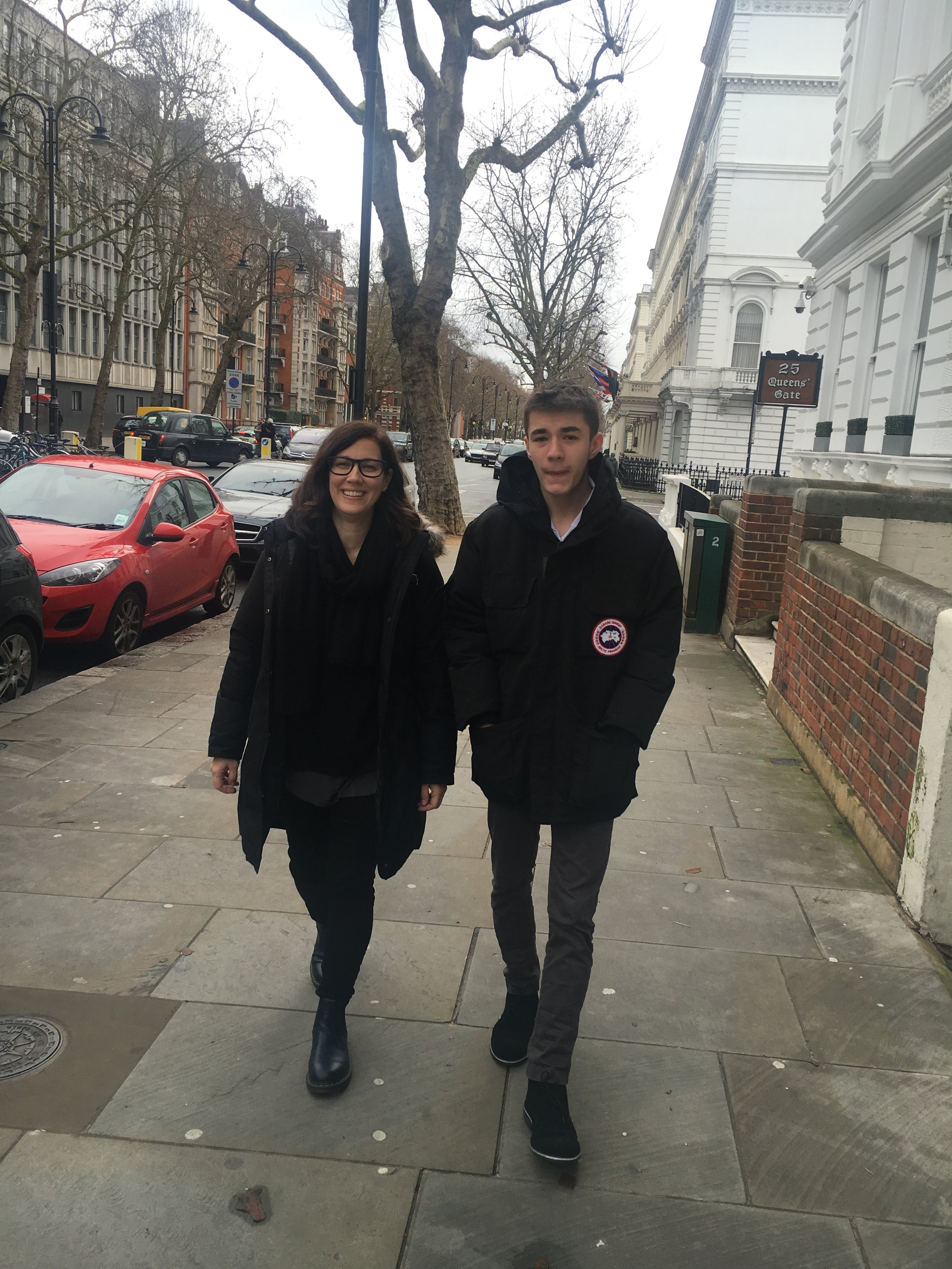 Carisima and her son in London.