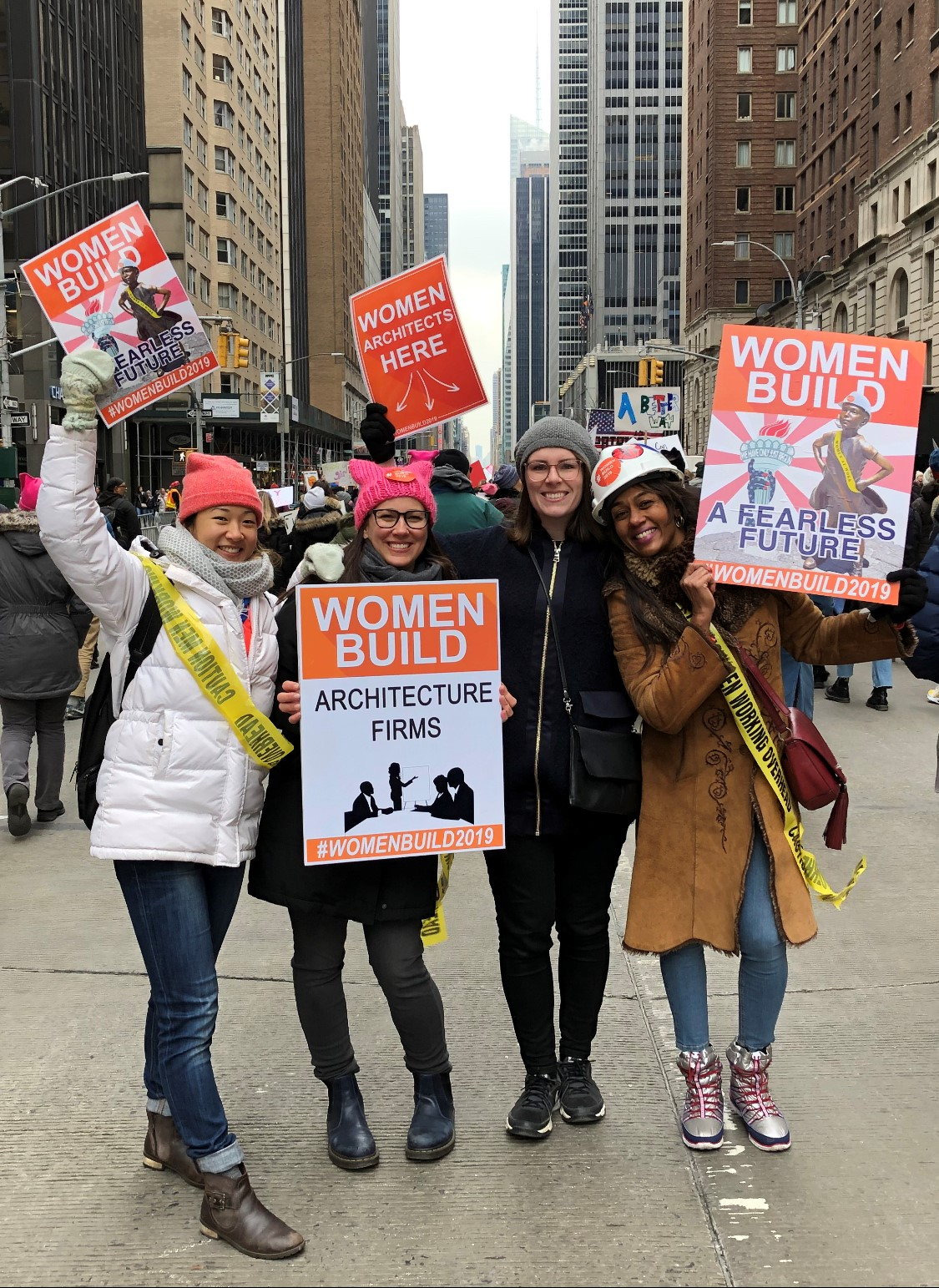 Carisima and her CannonDesign colleagues at the Women's March in NYC.