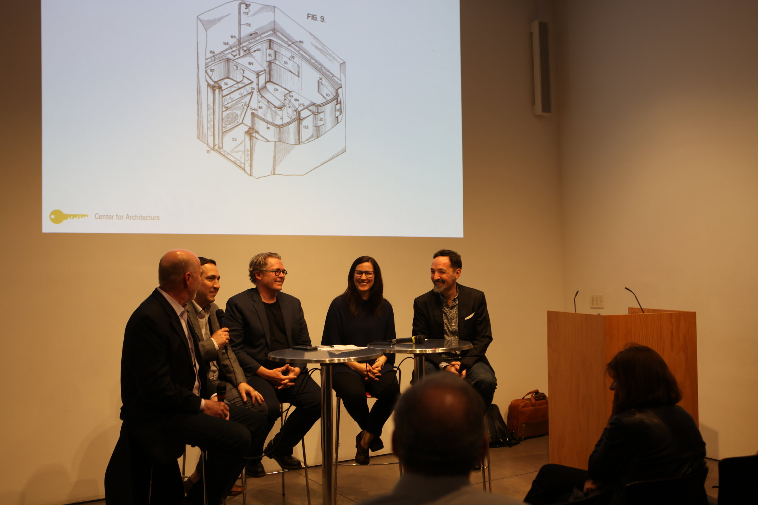Carisima on a panel at the AIANY Center for Architecture.