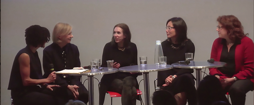 """Wendy Evans Joseph on AIA's """"Leaning Out"""" panel."""