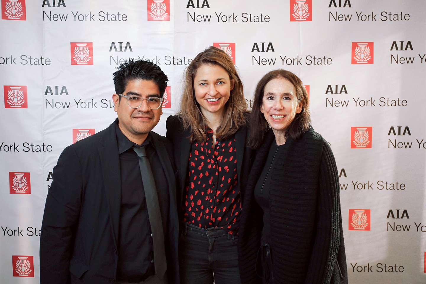 Wendy Evans Joseph with colleagues at the AIA NY State Awards.