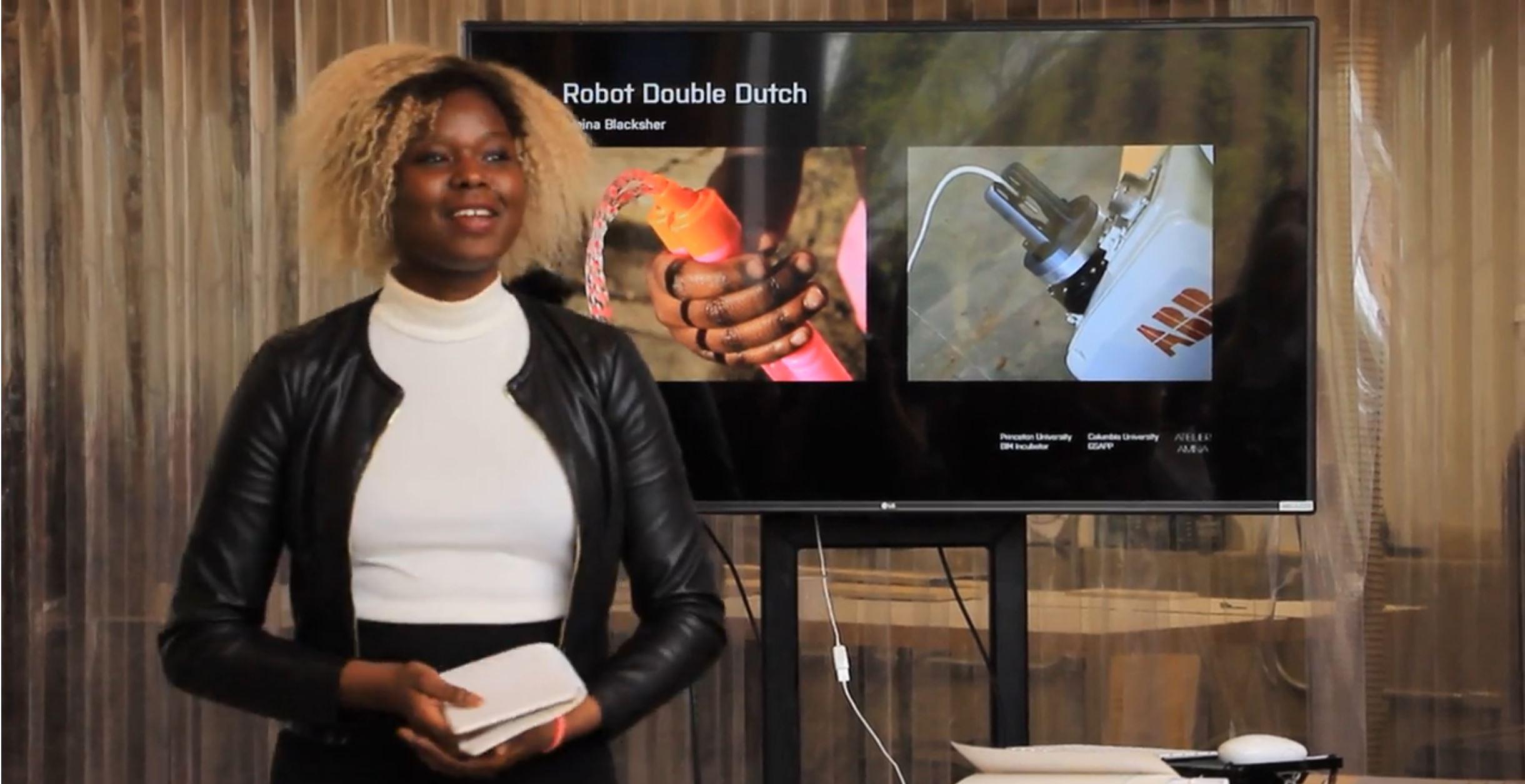 Robot Double Dutch presentation. Princeton School of Architecture: Black Imagination Matters