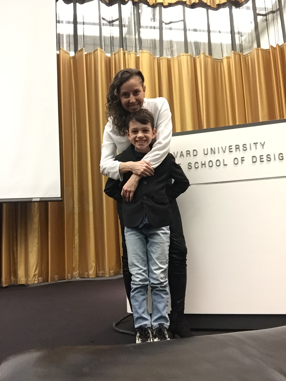 Yazmín and Gabriel after a GSD lecture.