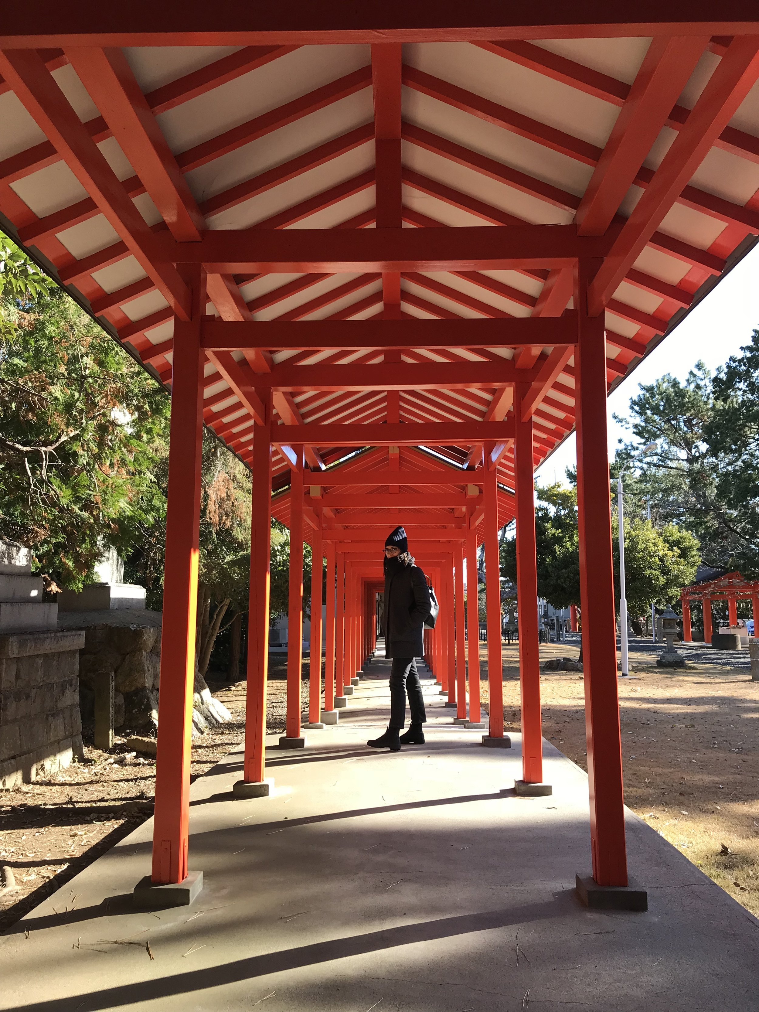 Katie's architecture inspiration at Shinto Shrine in Hamamatsu, Japan.