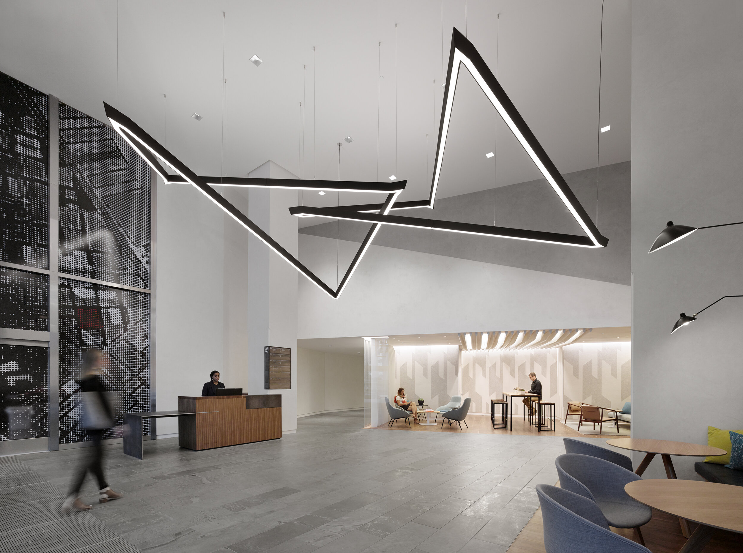 California lobby and amenity space by Blitz. Image courtesy of Matthew Millman.