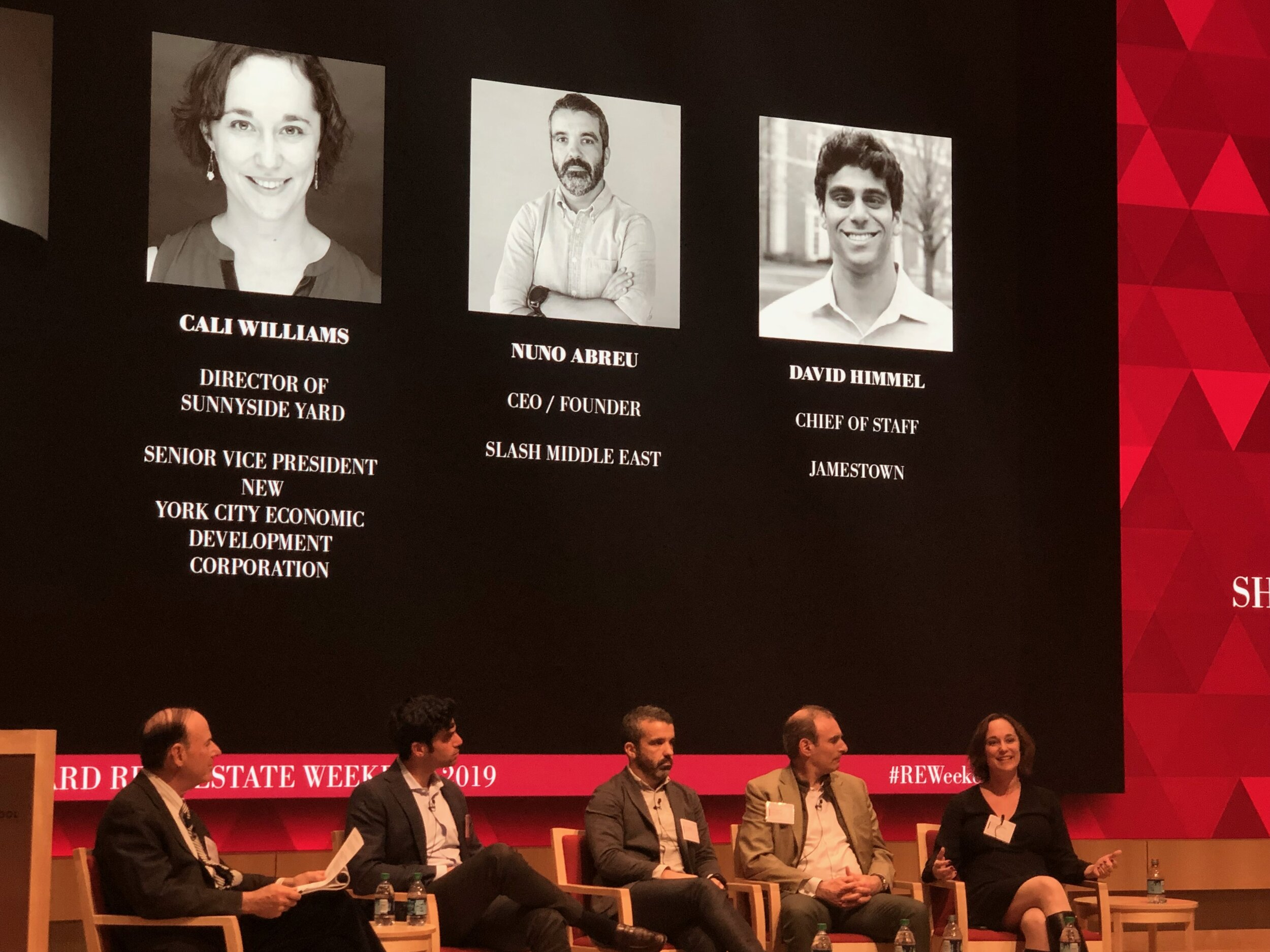 Cali Williams at the Harvard Real Estate Conference.