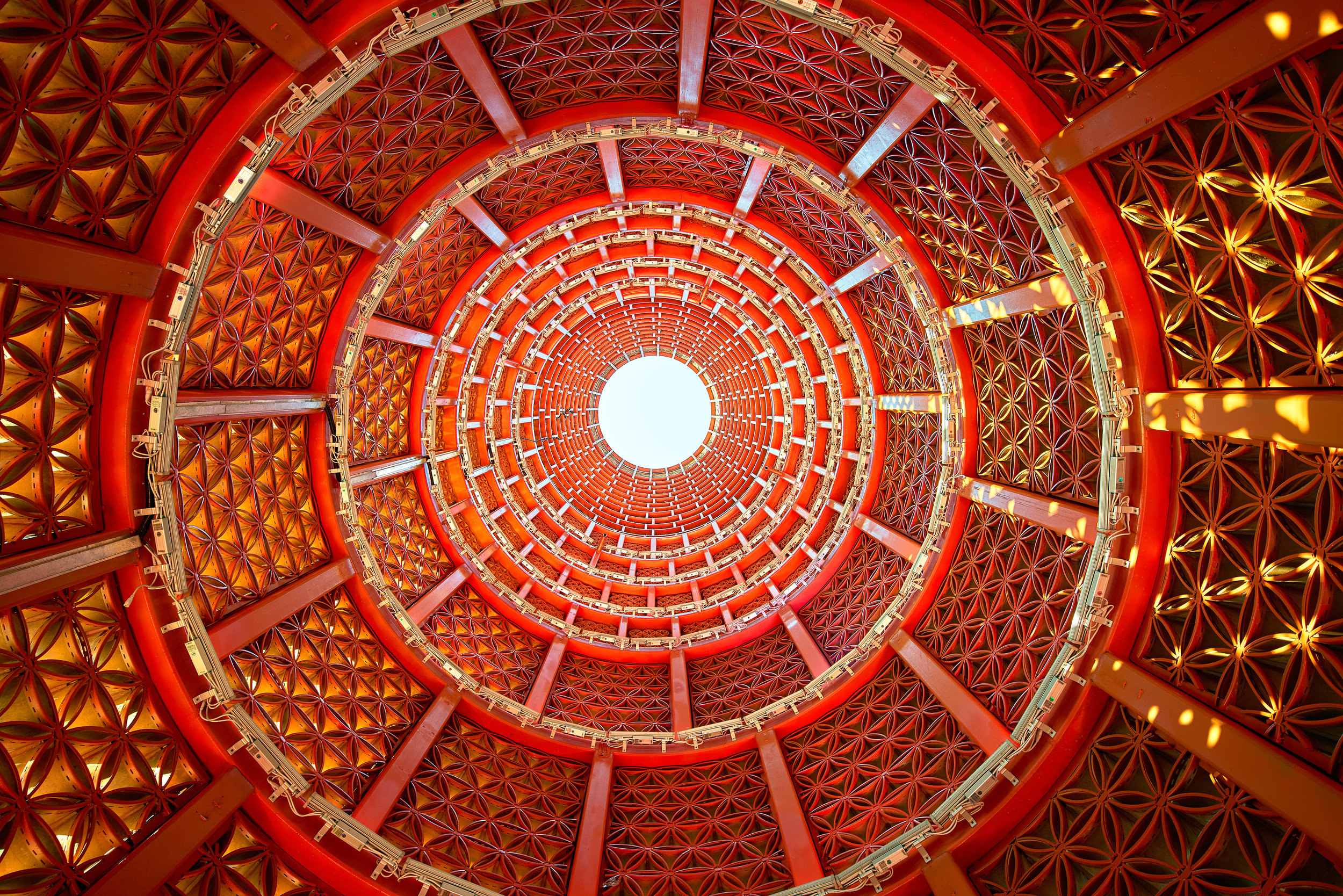 interior detail of the Obleisk at Uptown, Jinjiang.