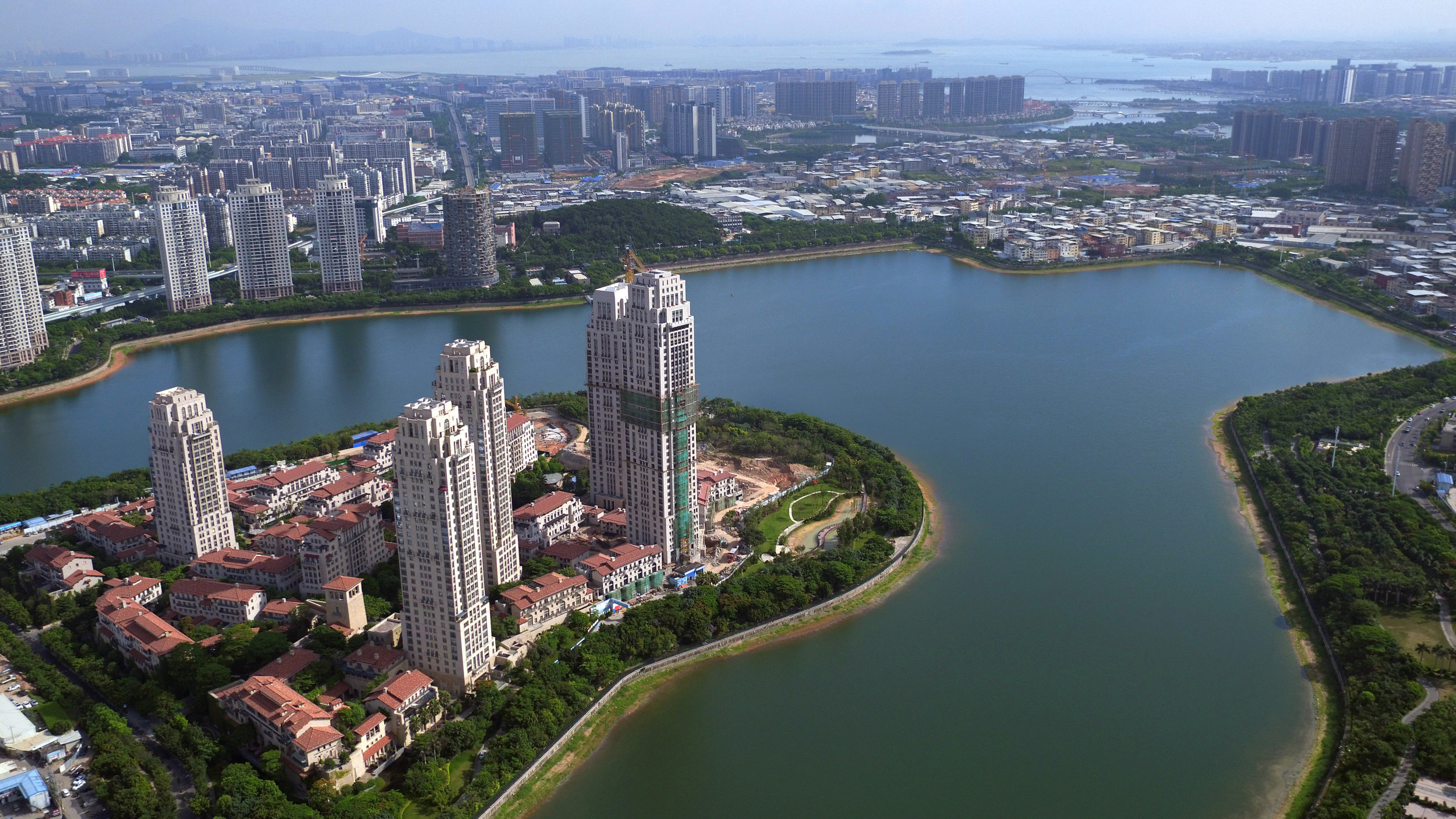 Heart of Lake, Xiamen, China, nearing completion