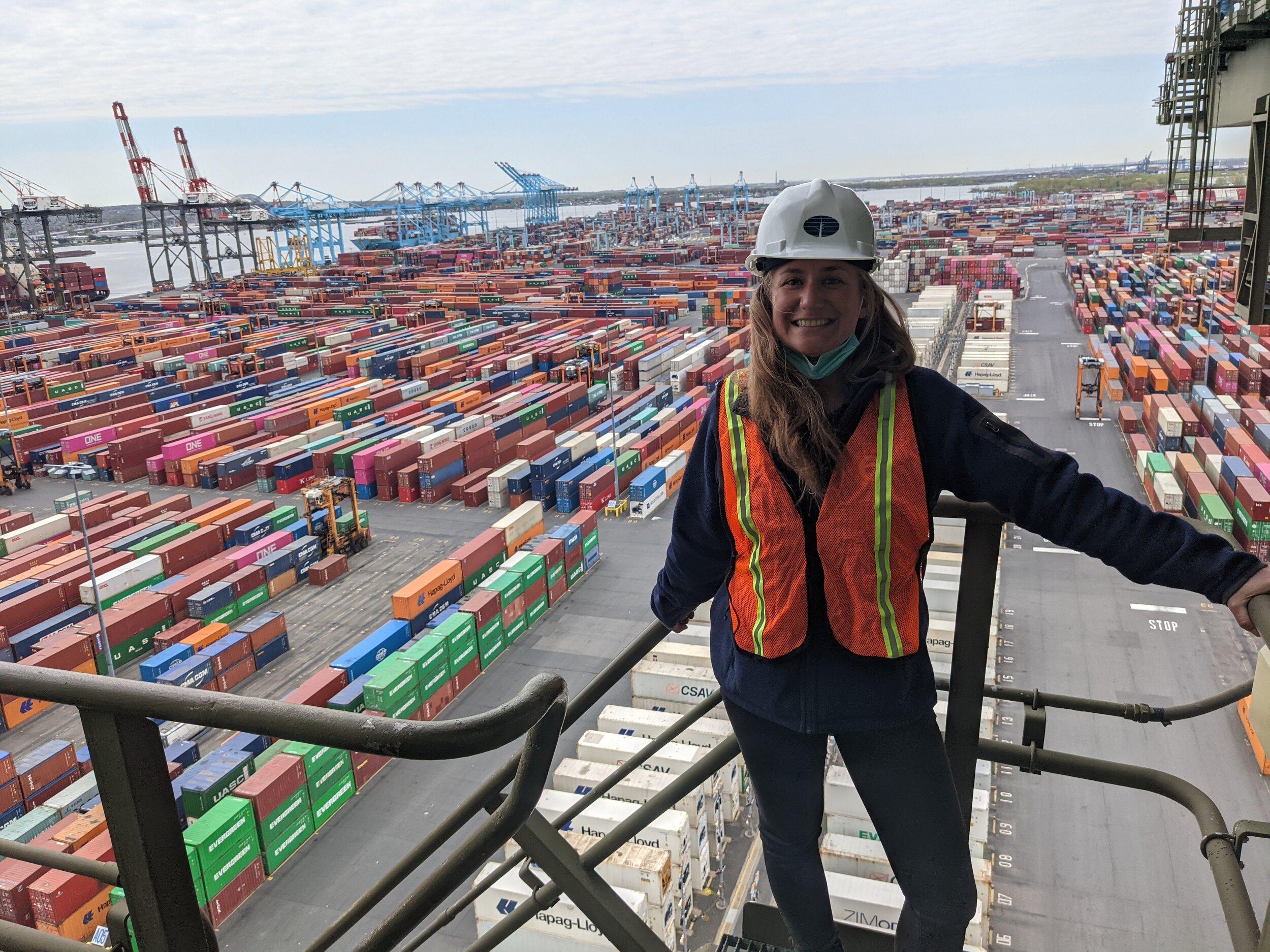 On the job at Port Newark.