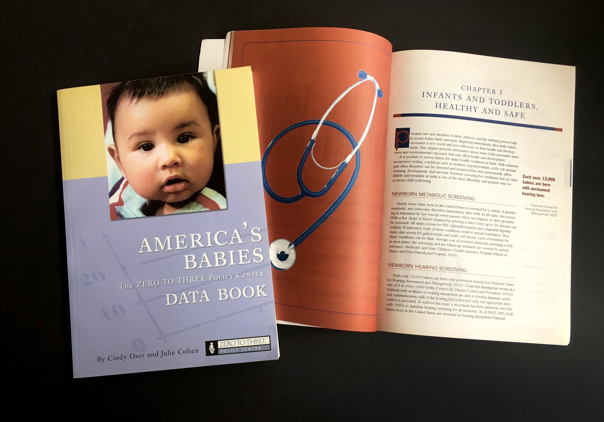 Zero To Threes data book on babies.