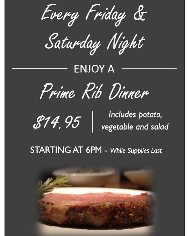Stop by @minutemanbarandgrille Friday and Saturday for our Prime Rib Dinner!