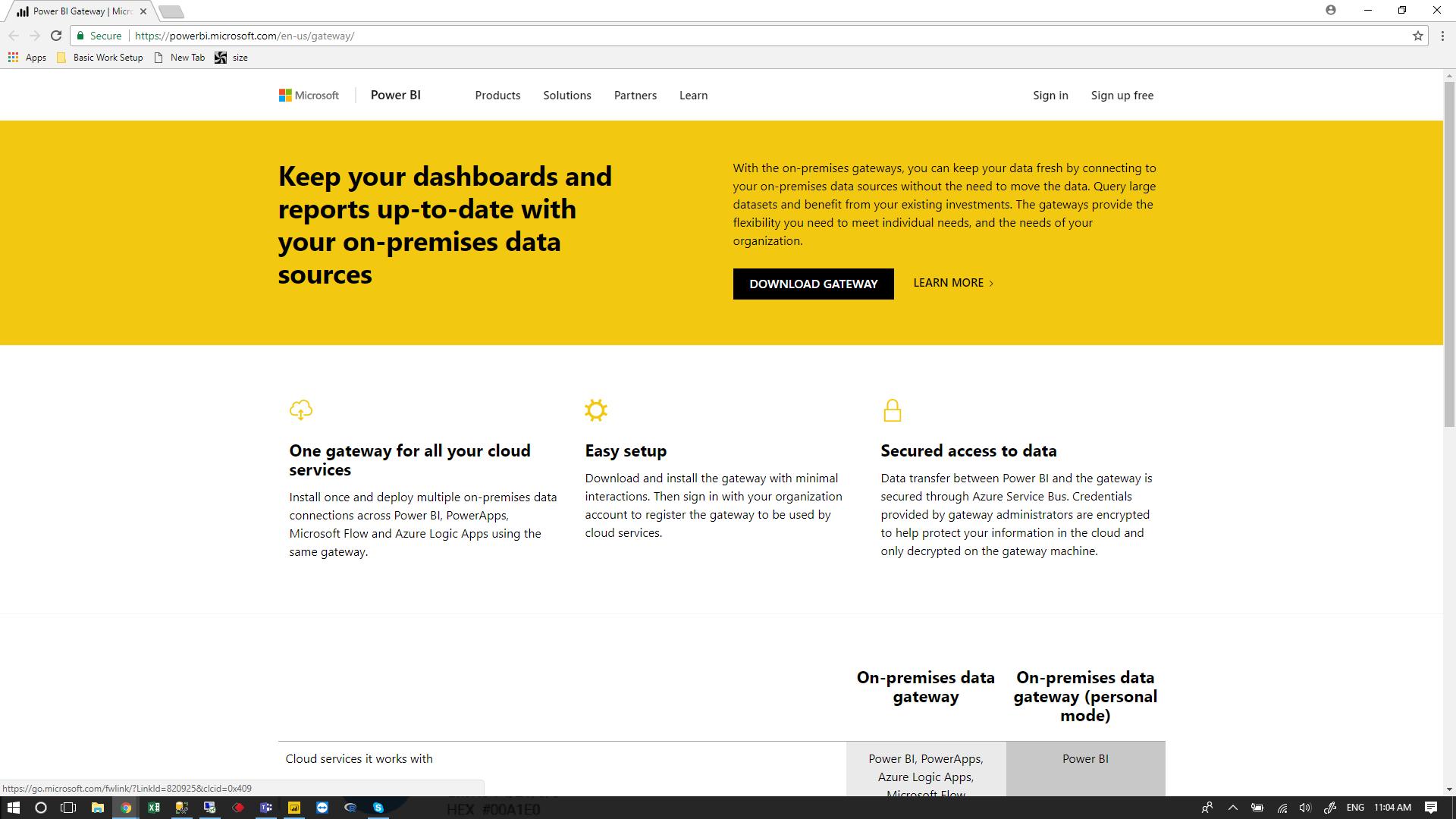 5) Download the gateway installer: